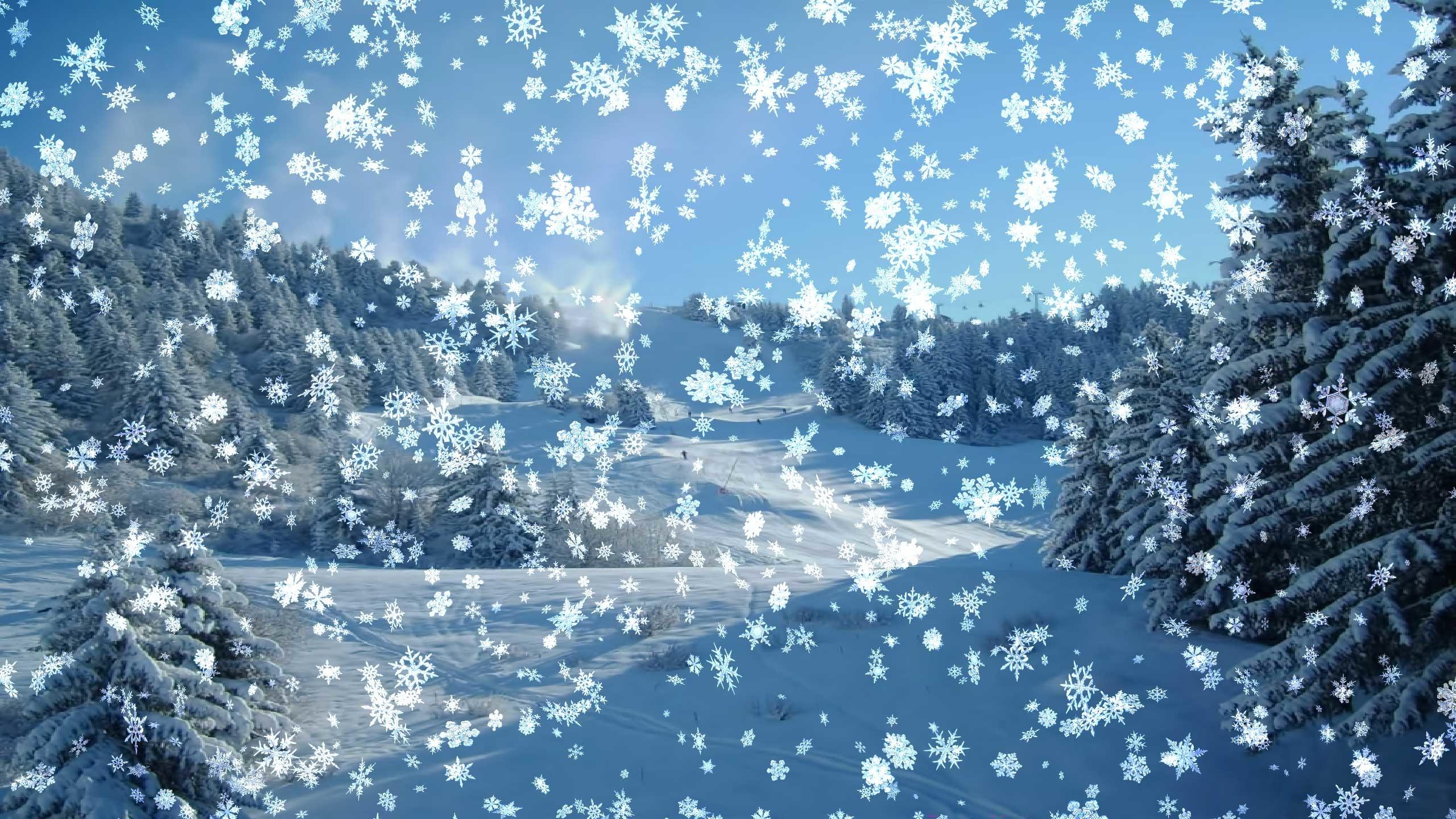 Snowy Desktop 3D