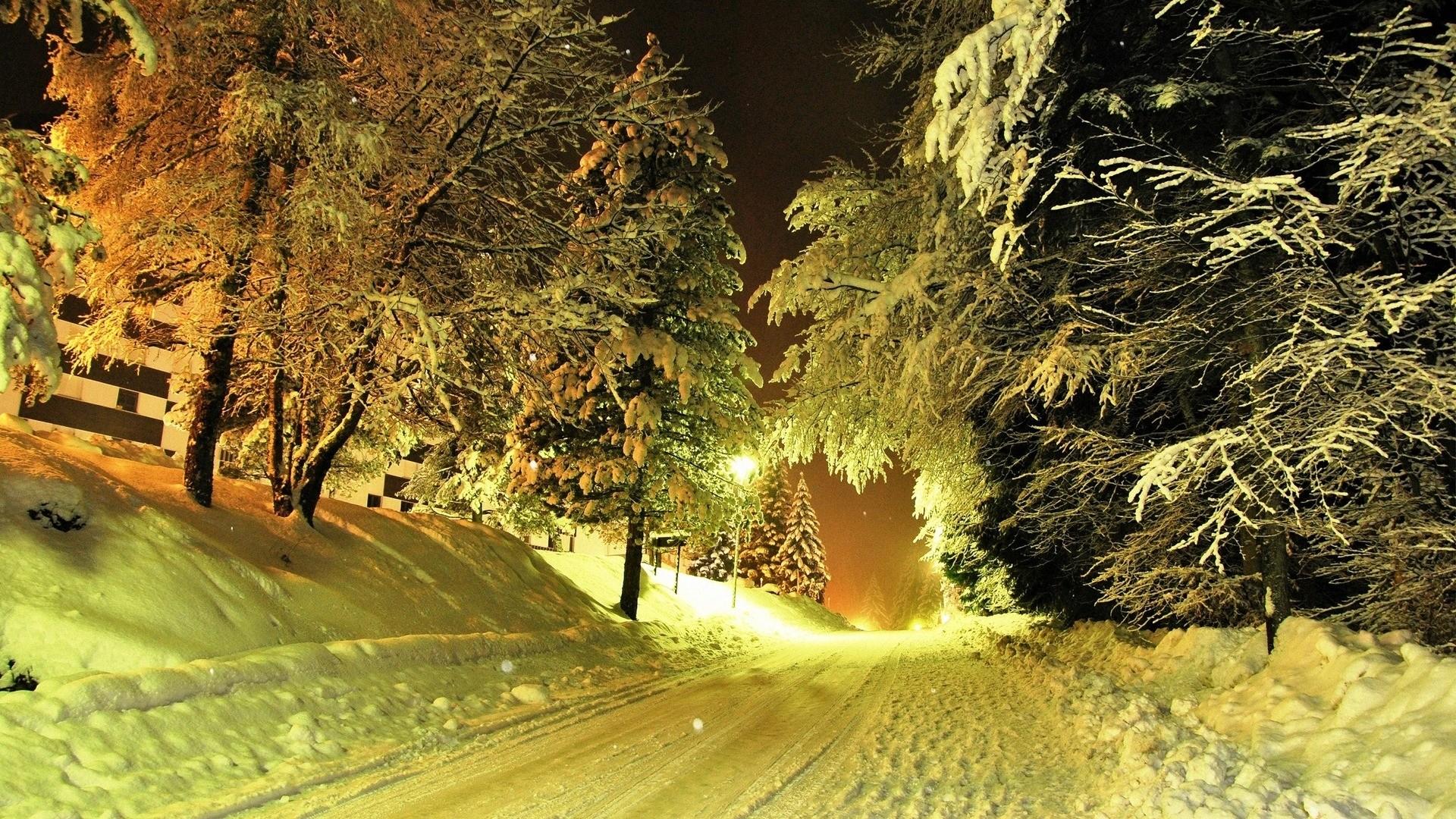 Winter Nights HD Wallpaper