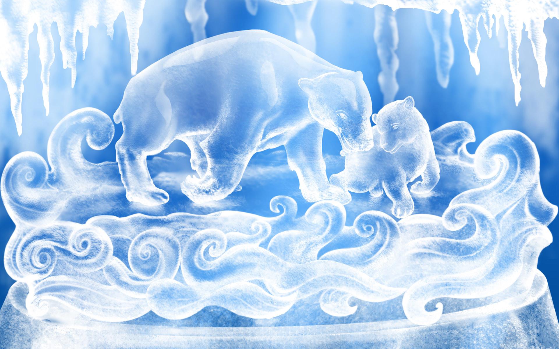 Ice Figures – winter wallpaper