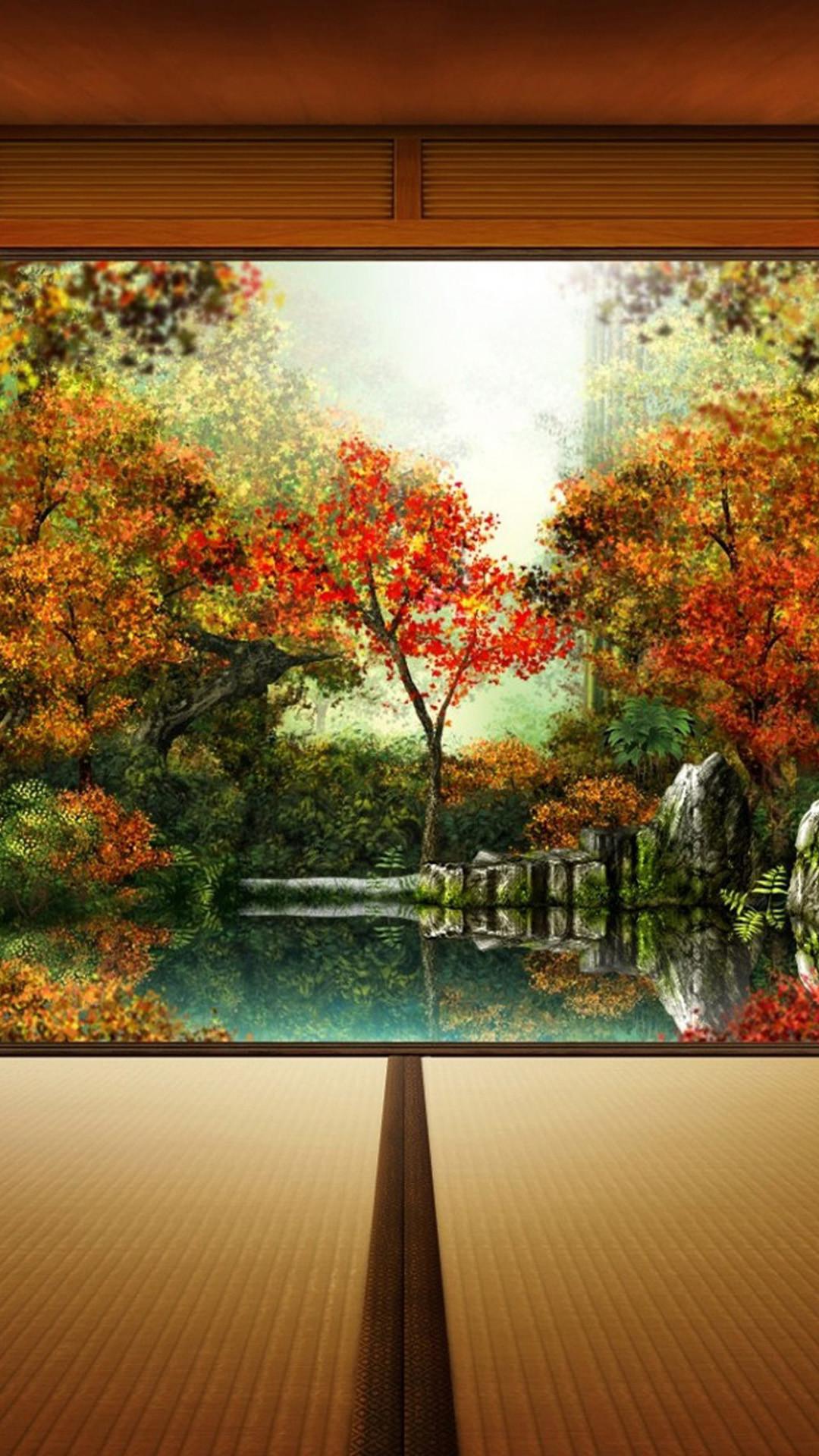Autumn In Japan HD Wallpaper iPhone 6 plus
