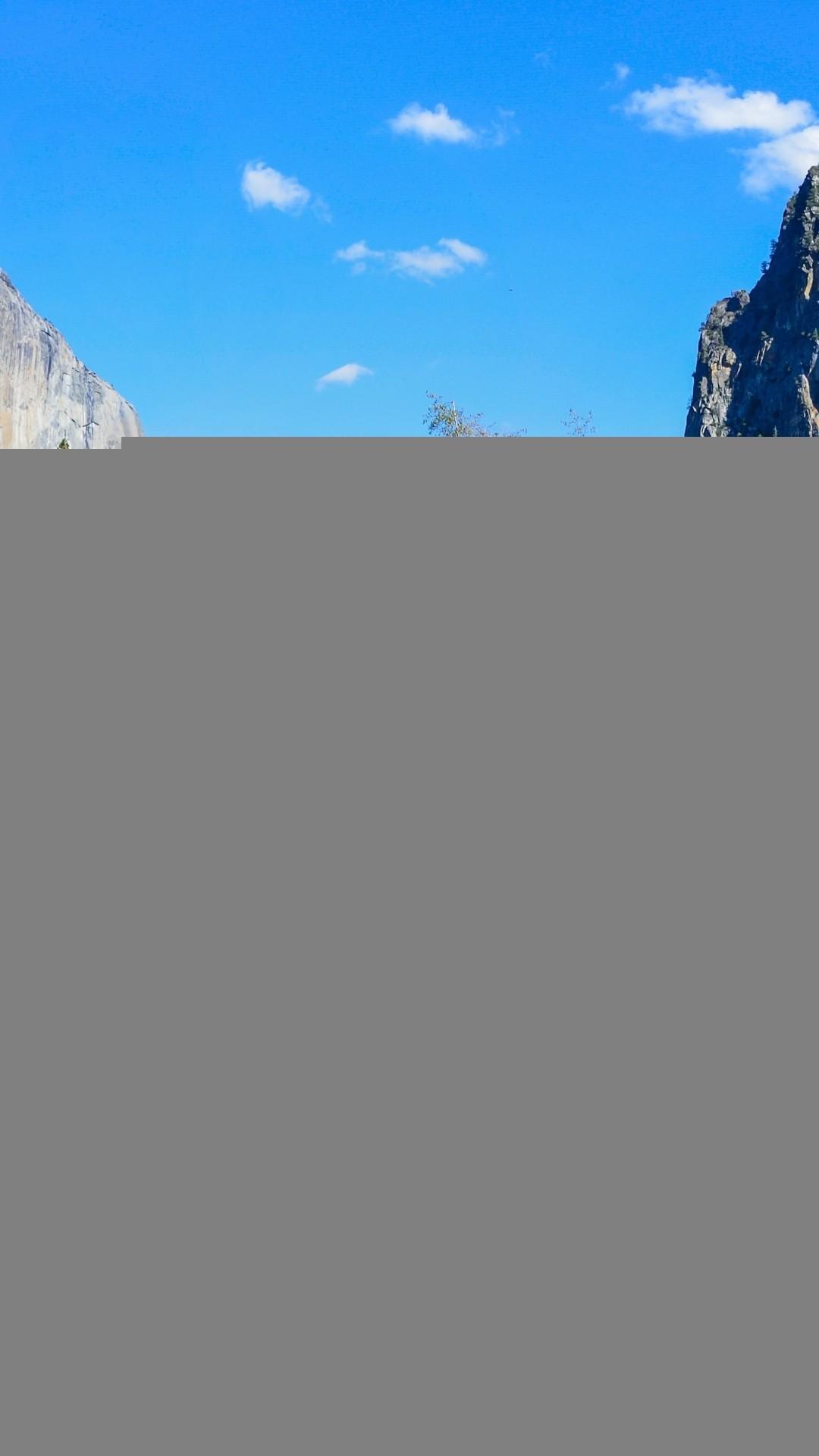 Yosemite National Park Lake Rocks Mountains Autumn Nature iPhone 8 wallpaper