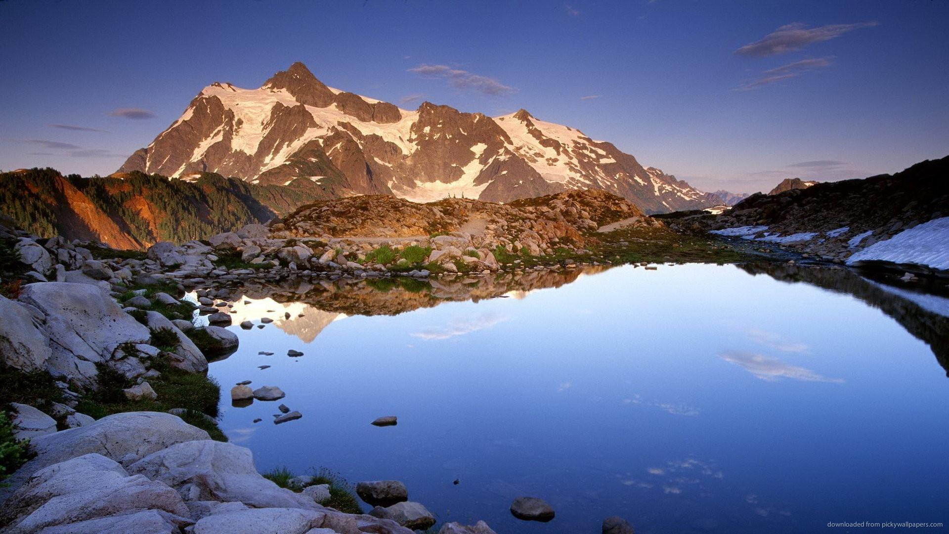 Mountain lake for 1920×1080