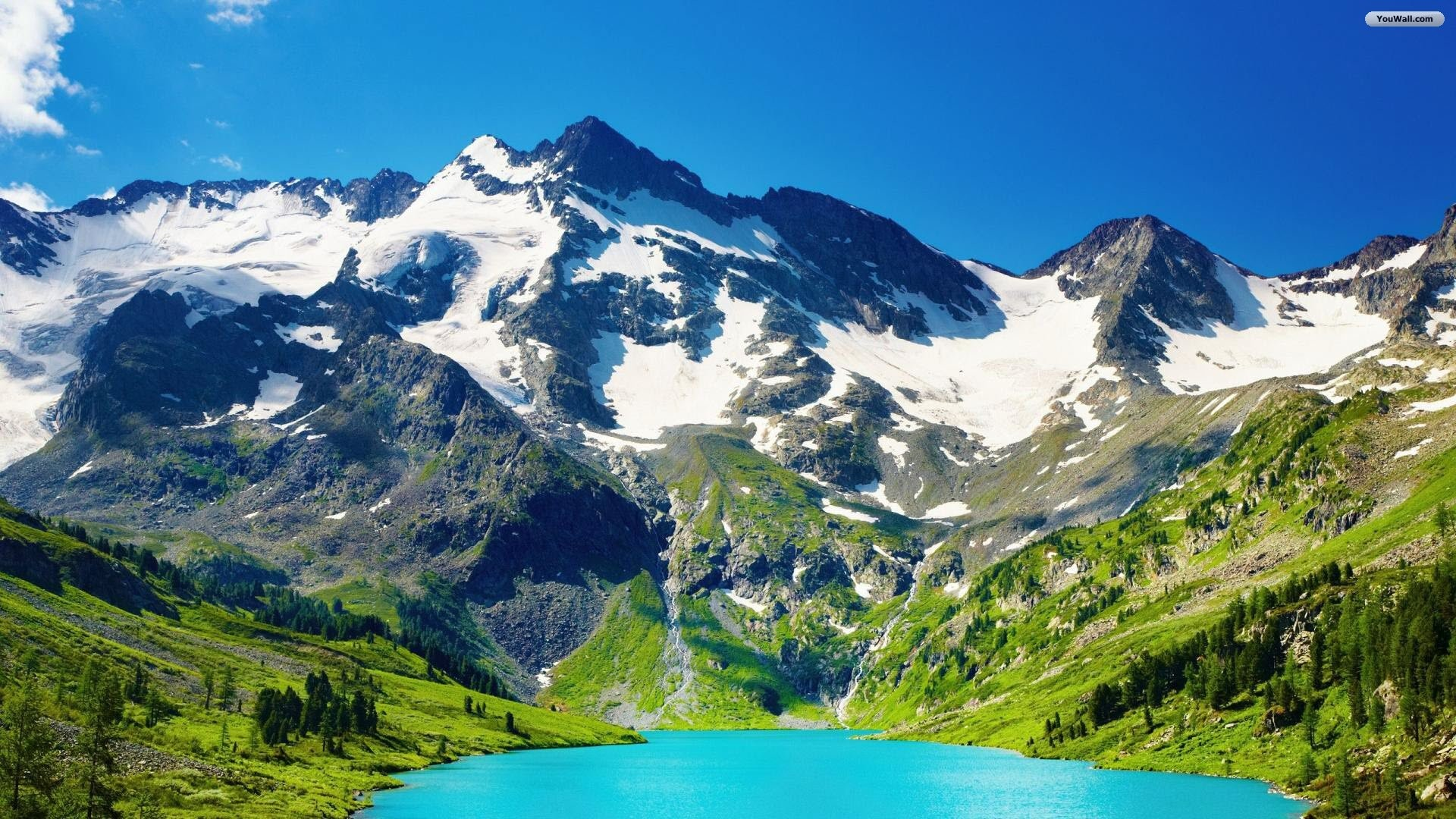Mountain Blue Lake Wallpaper