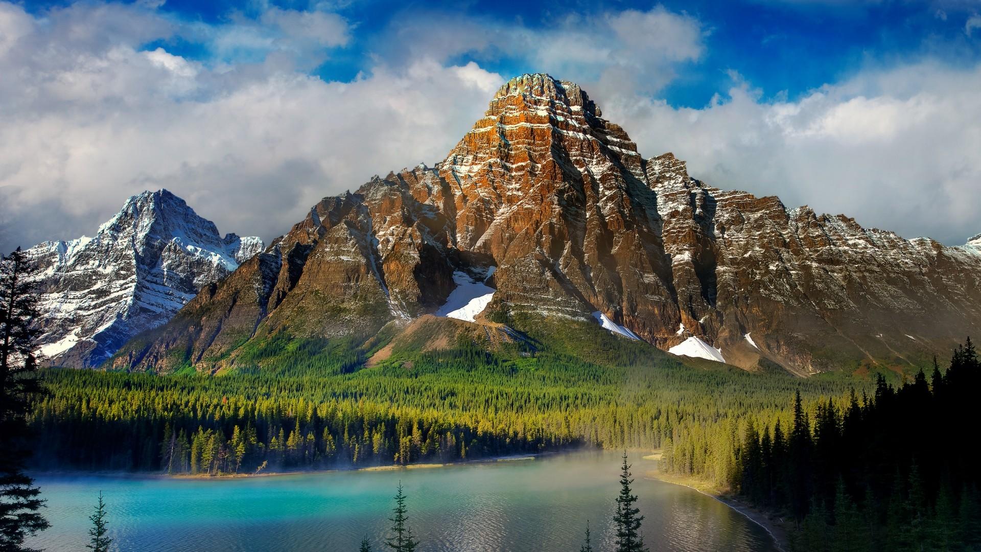 Wallpaper beautiful scenery, mountains, lake, nature