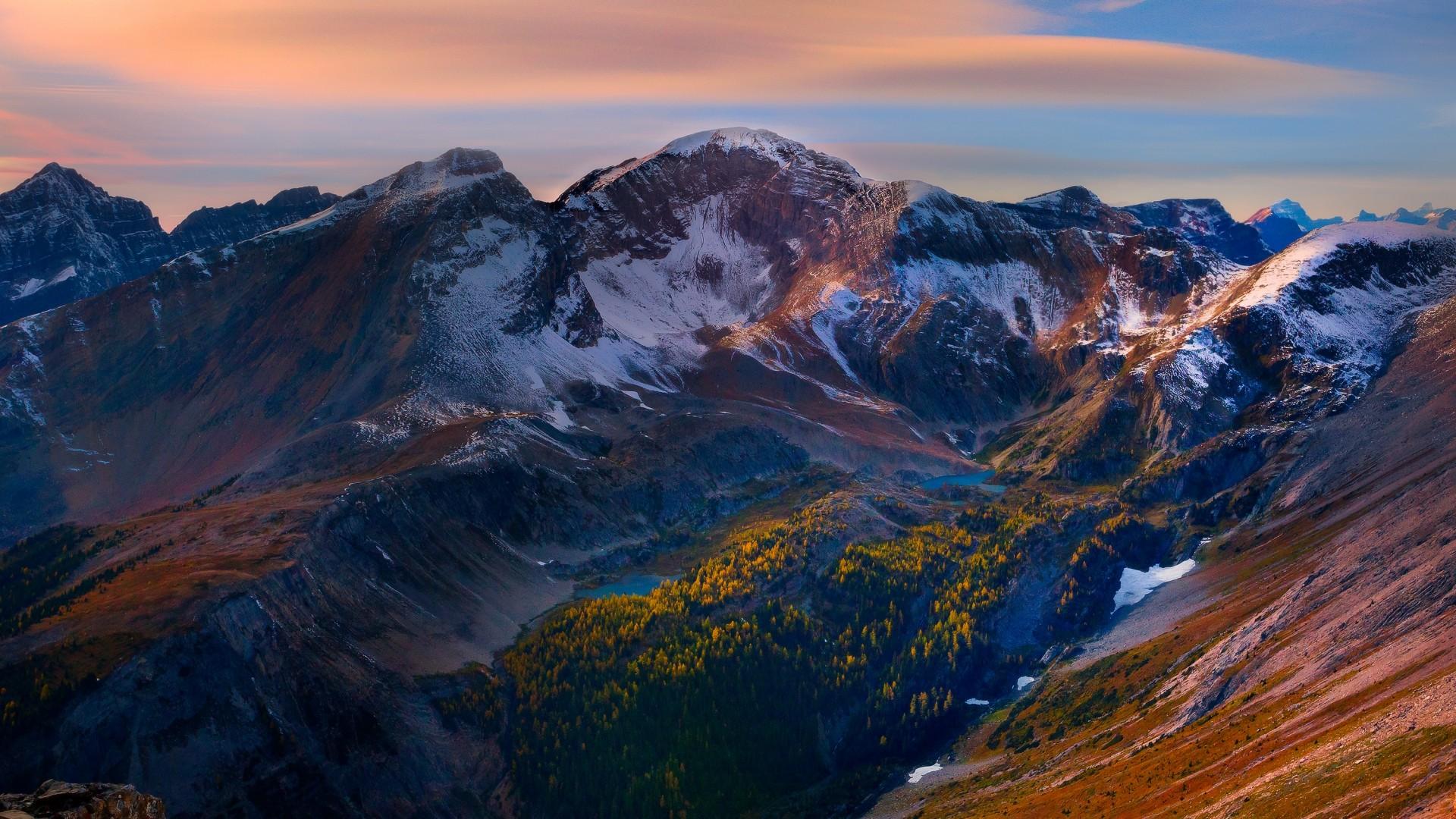 Wallpaper mountain, peaks, sky, beautiful scenery