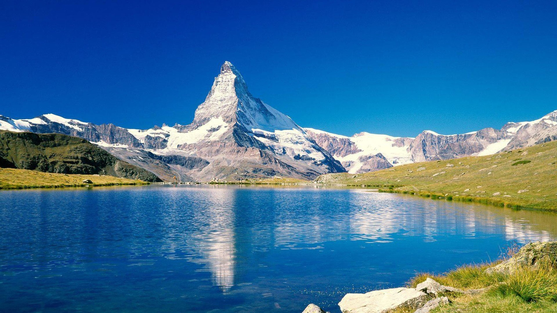 mountain, peak, top