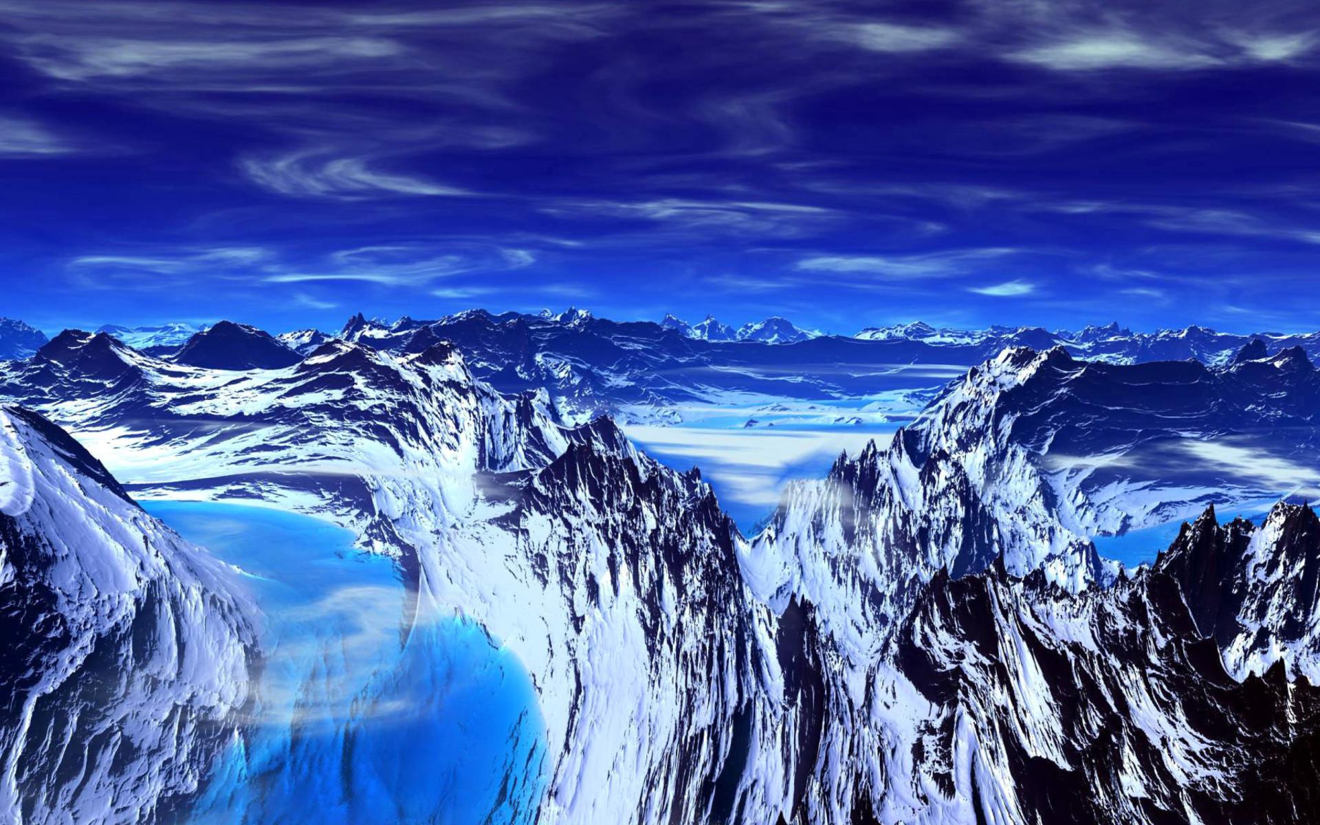 Blue Mountain Wallpaper for Widescreen Desktop PC 1920×1080 Full HD