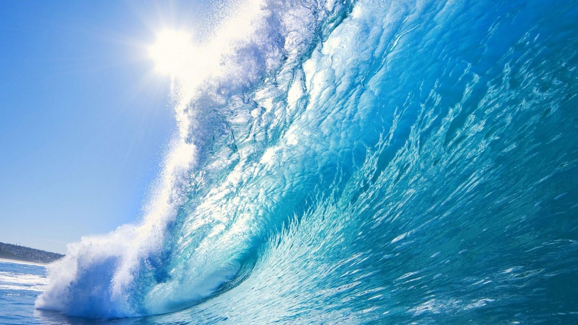 Beautiful ocean wave desktop PC and Mac wallpaper