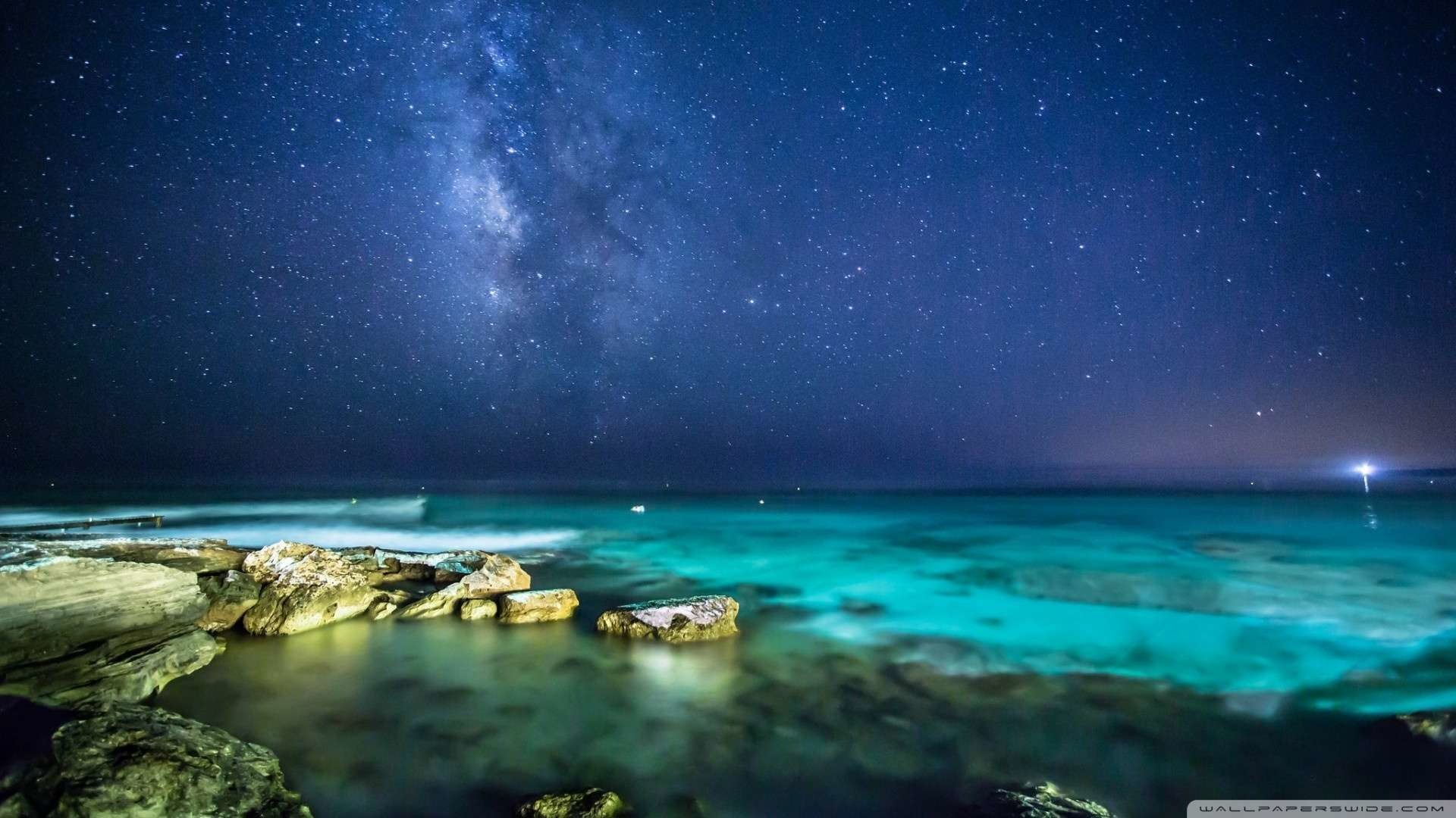 Wallpaper: Ocean Night Sky Wallpaper 1080p HD. Upload at February 16 .