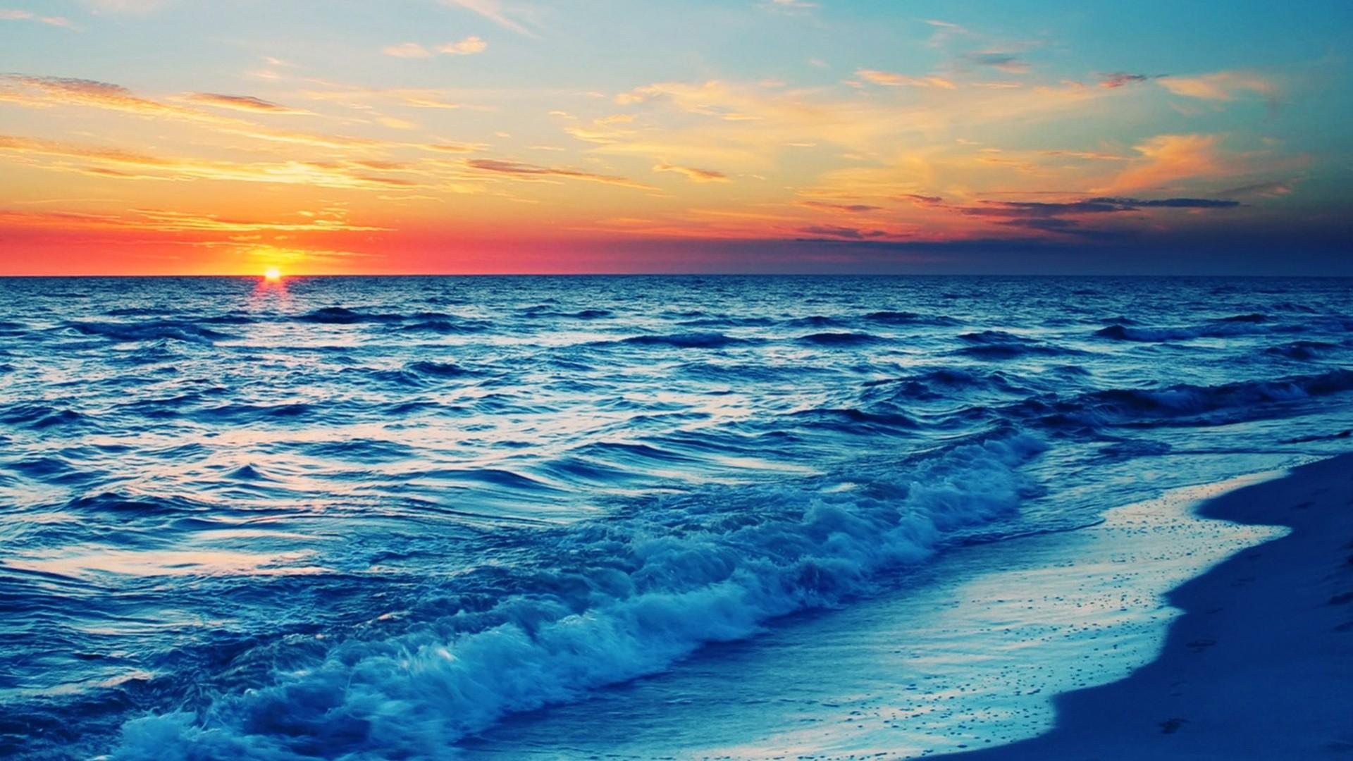 Sunset Beach desktop PC and Mac wallpaper