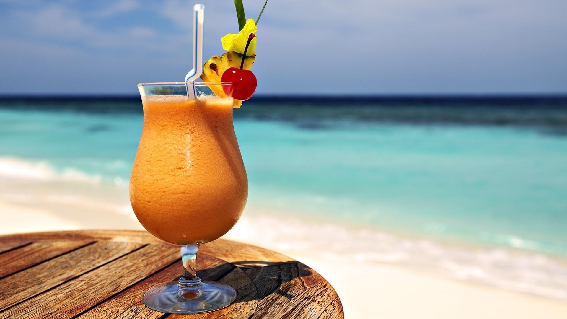 Wallpaper cocktail, dense, tubule, pineapple, beach