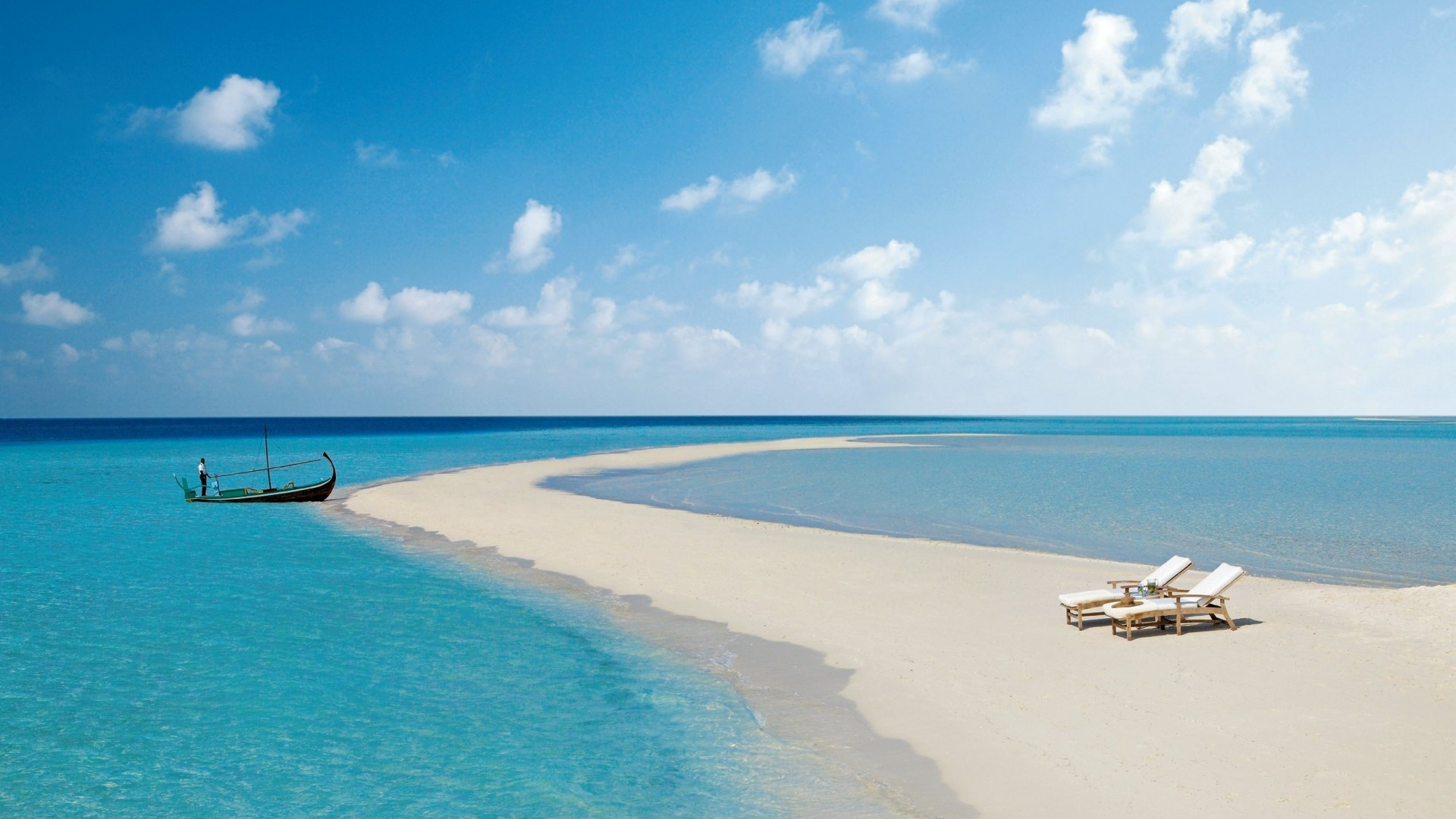 Wallpaper maldives, beach, tropical, sea, sand, island, boat