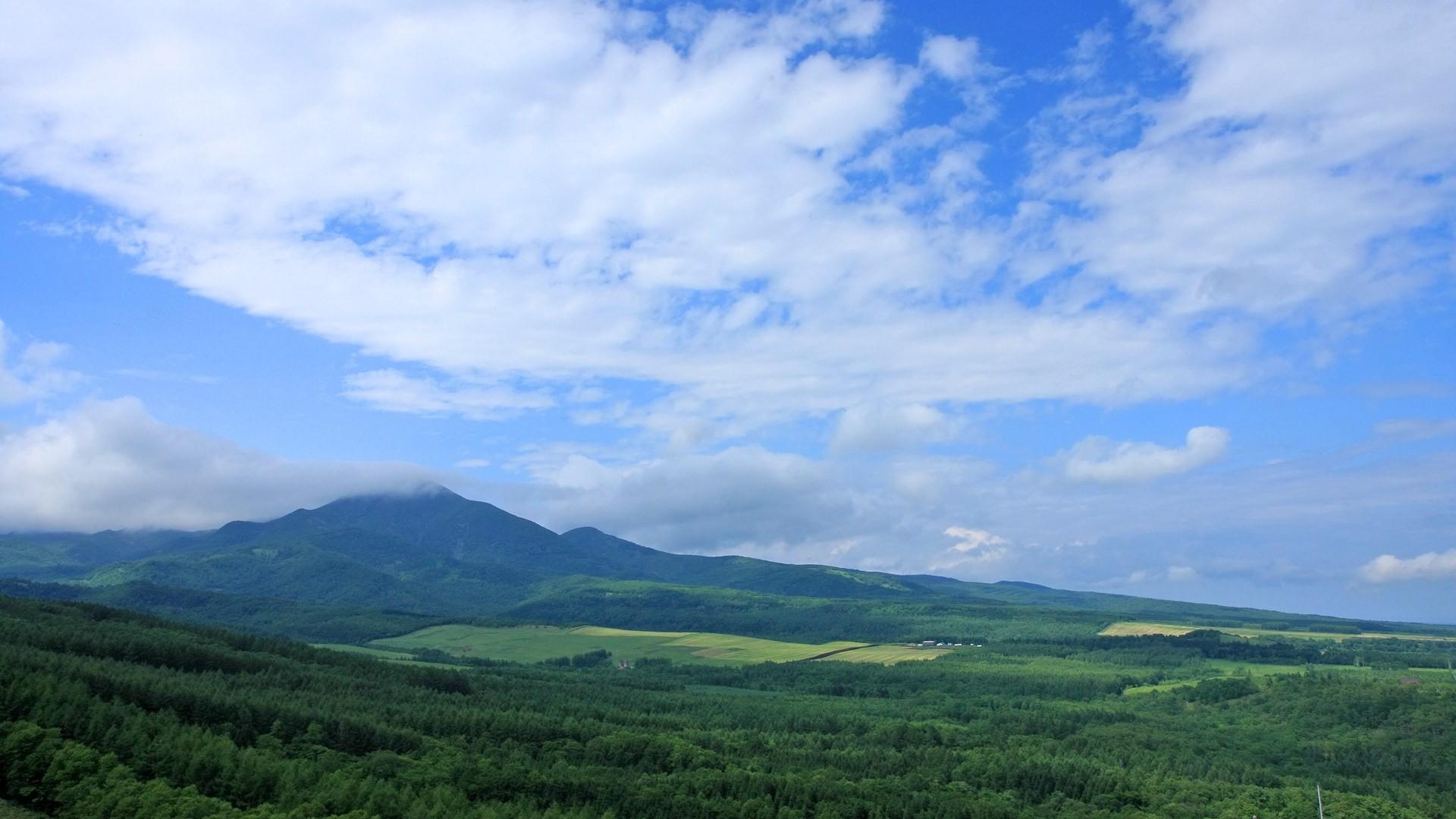 Japan Hokkaido Country Field : Open Field Under Sky1920x1080第28 Wallpaper