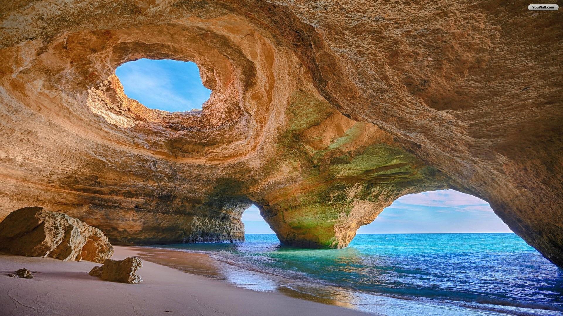 Algarve Caves Beach Wallpaper