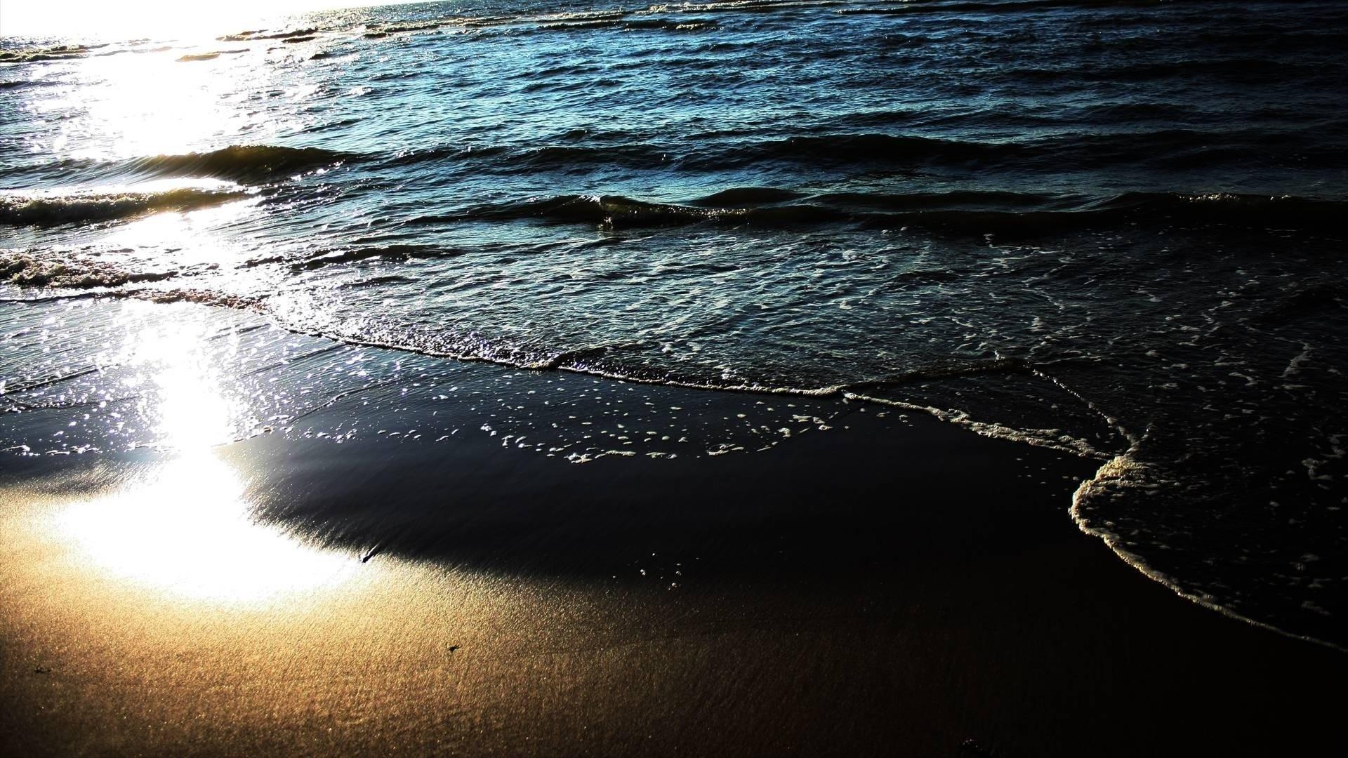 Wallpaper beach, sand, water, sea, whisper, waves