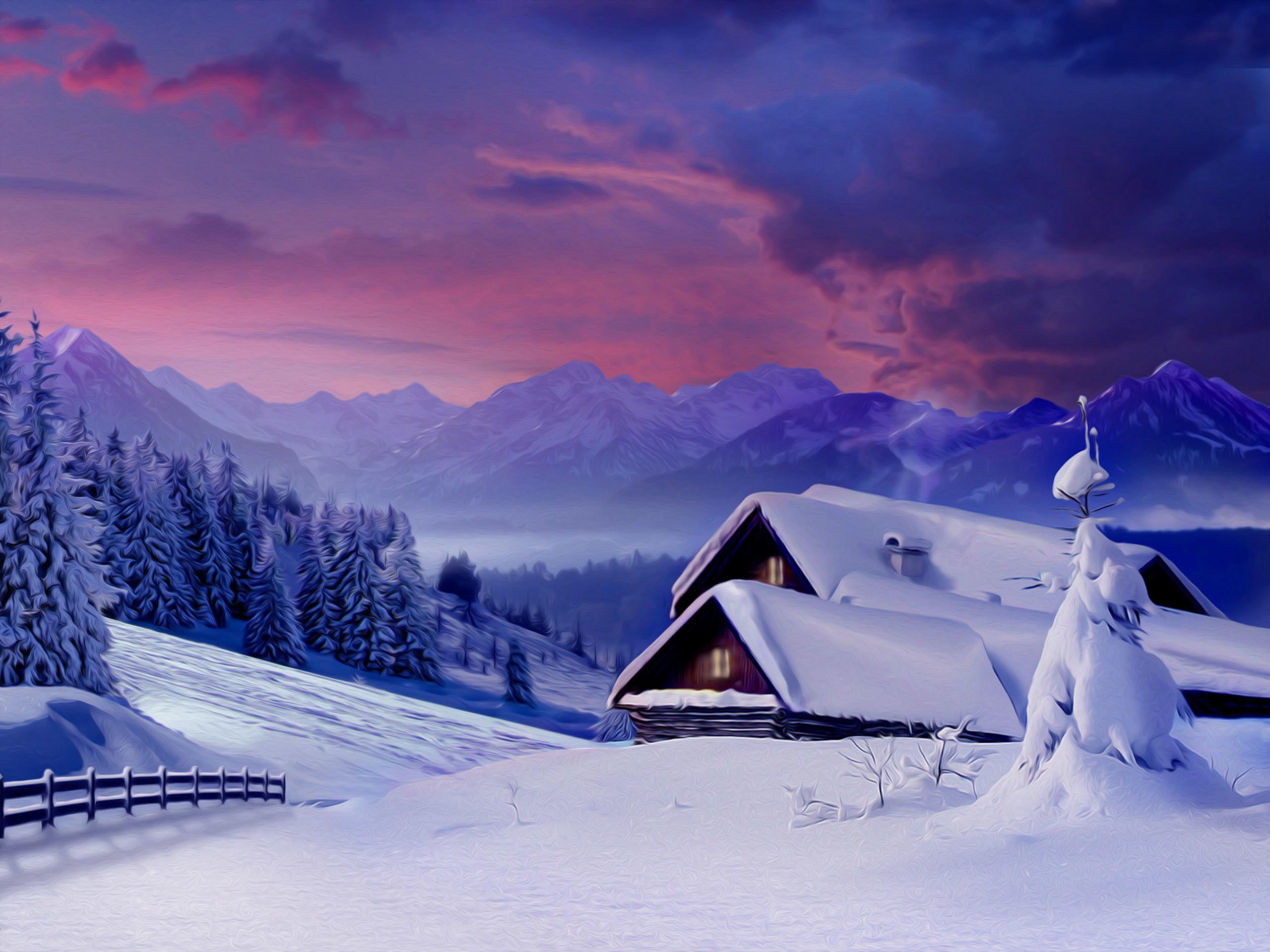 winter snow scene pictures | Snow Wallpapers | Desktop Wallpapers – Page 10