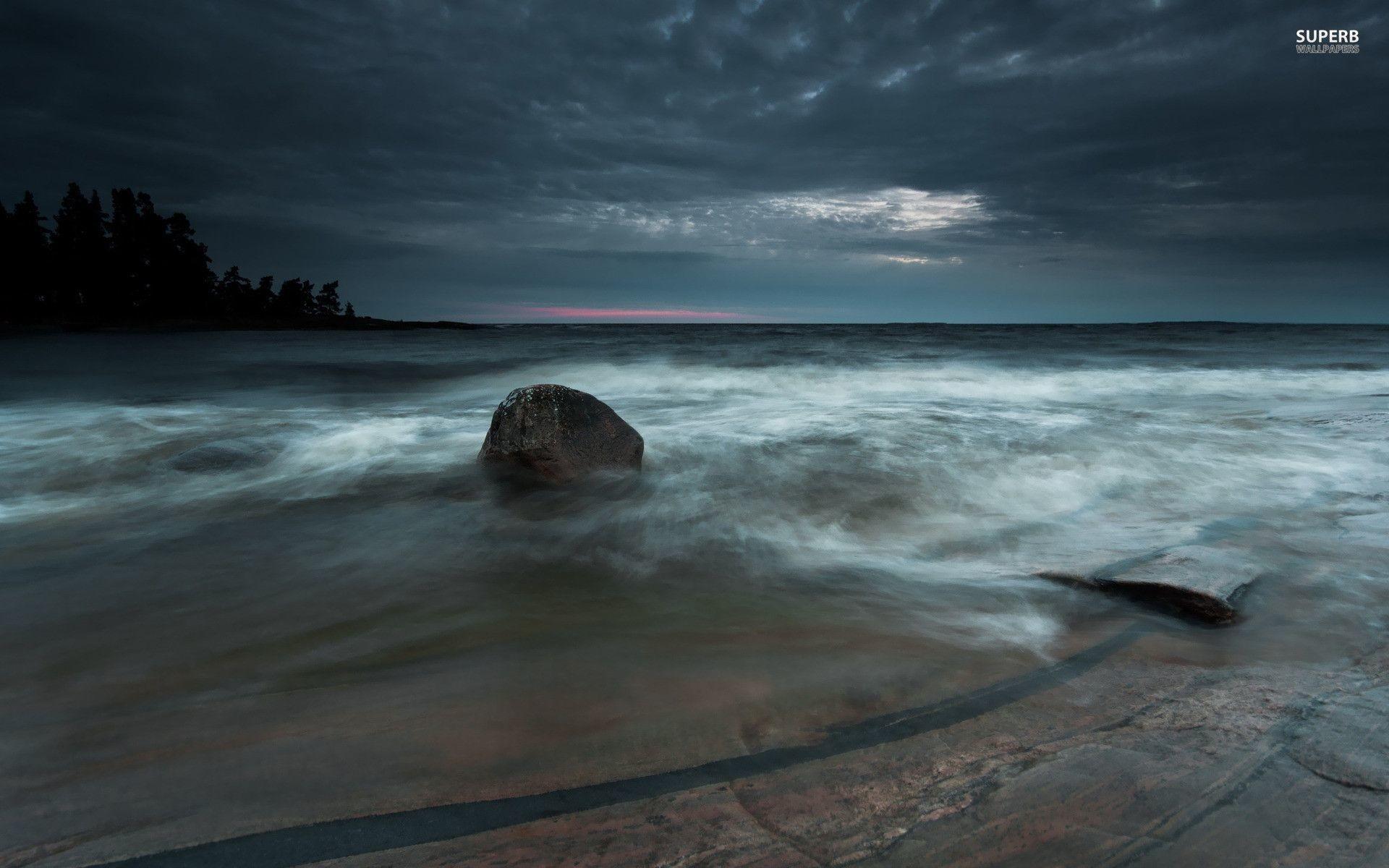 Stormy sea wallpaper – Beach wallpapers – #