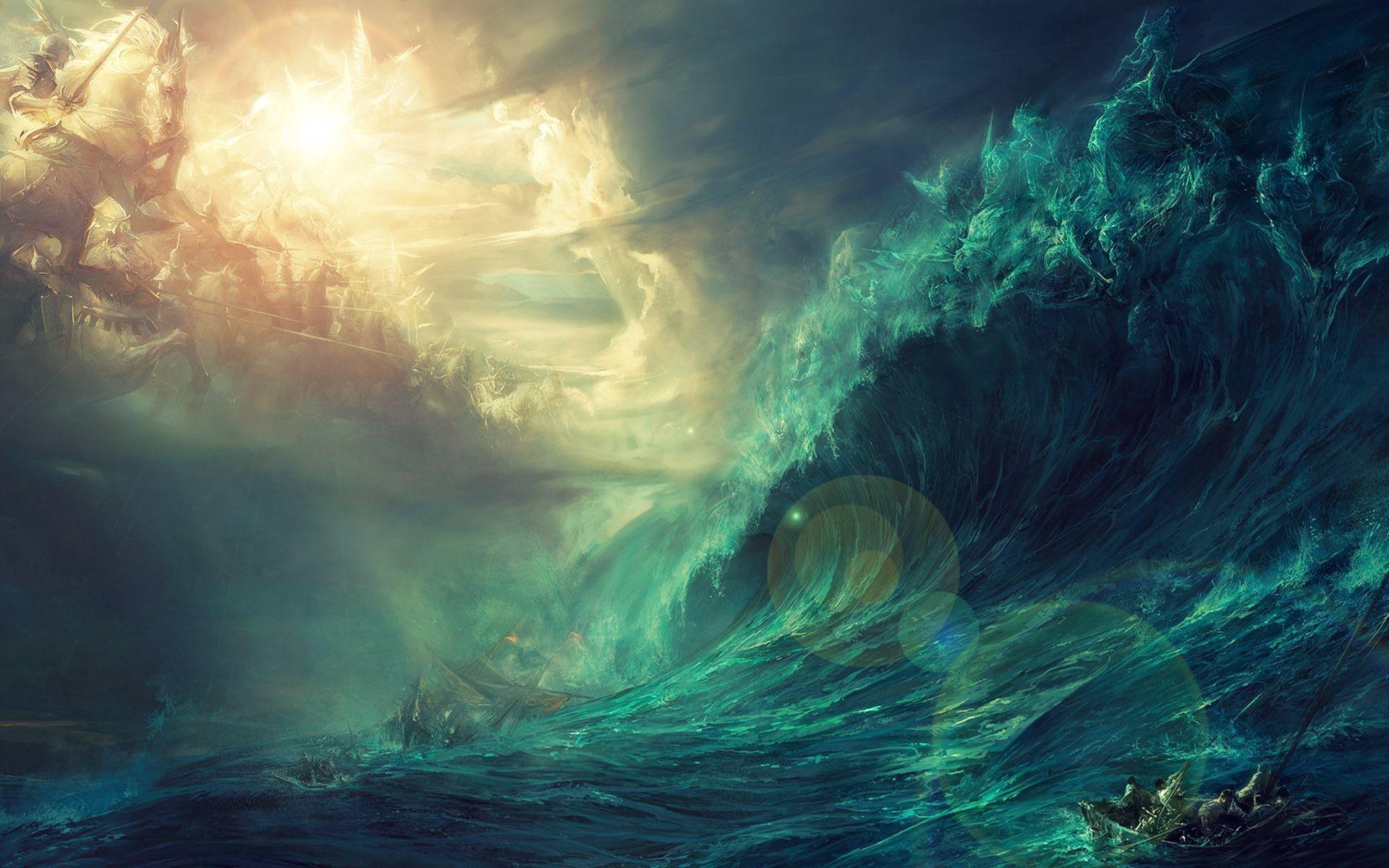 Wallpapers Hd Raging Seas Waves Ocean Storm Rough Chop 3840 X 1080 430 .