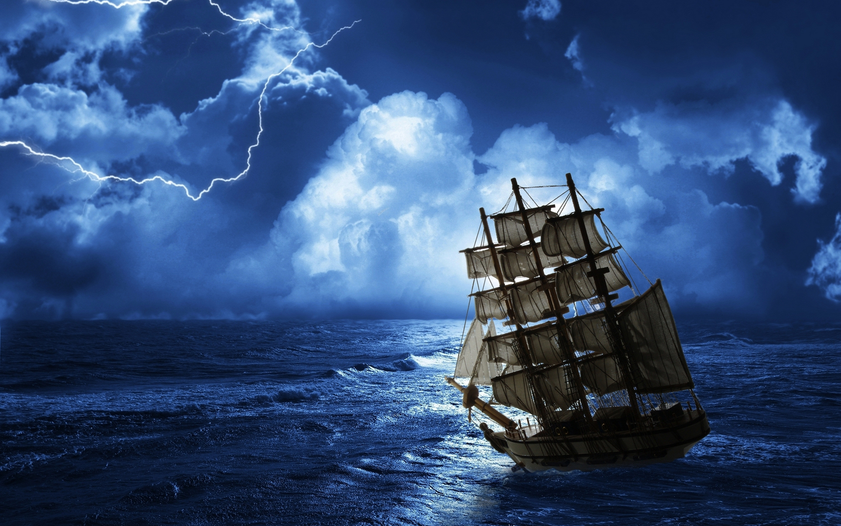 a ship at sea   Ghost ship row sea Wallpapers Pictures Photos Images