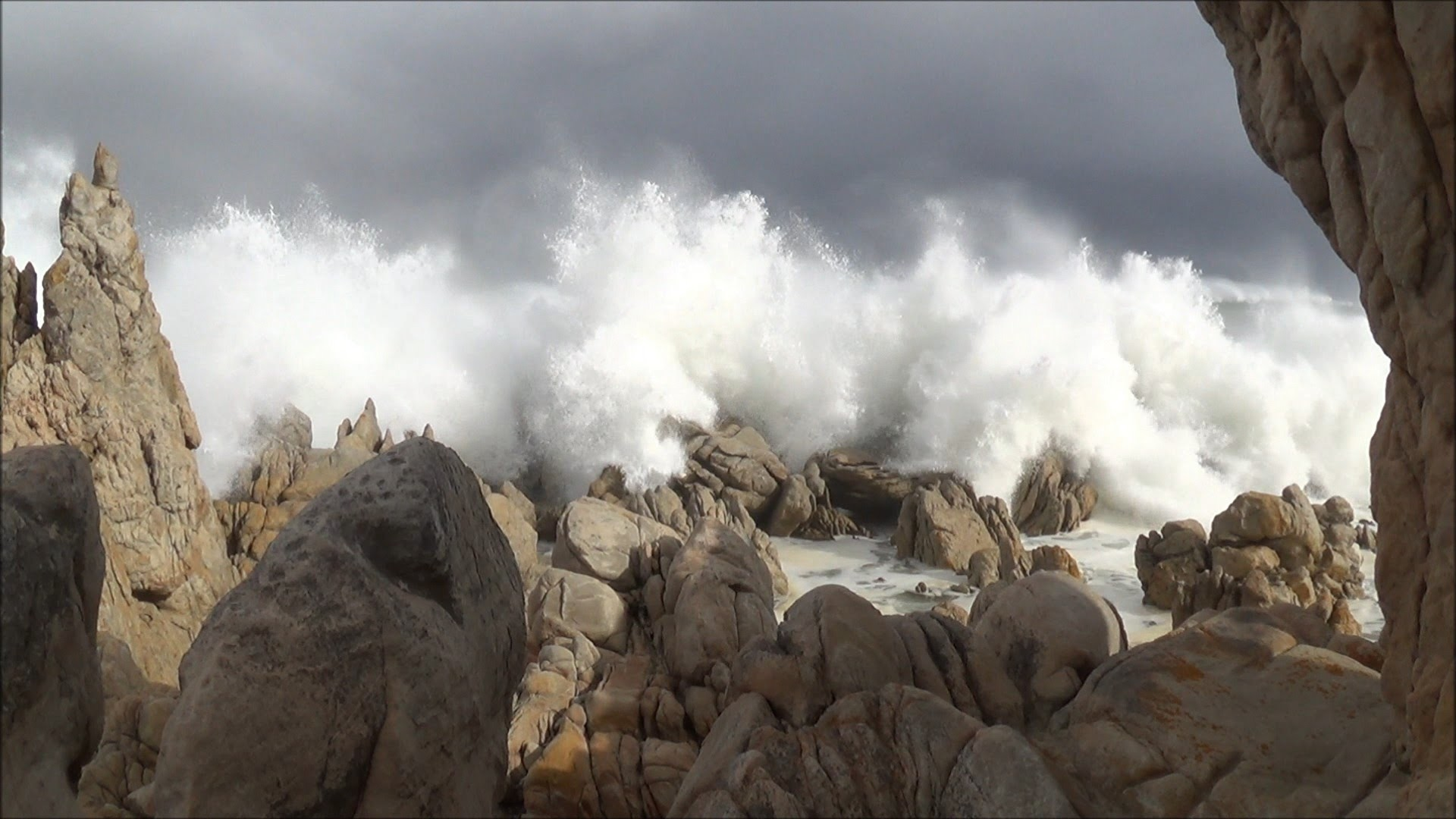 Big ocean waves crashing – stormy sea – Western Cape coast South Africa –  HD 1080P – YouTube