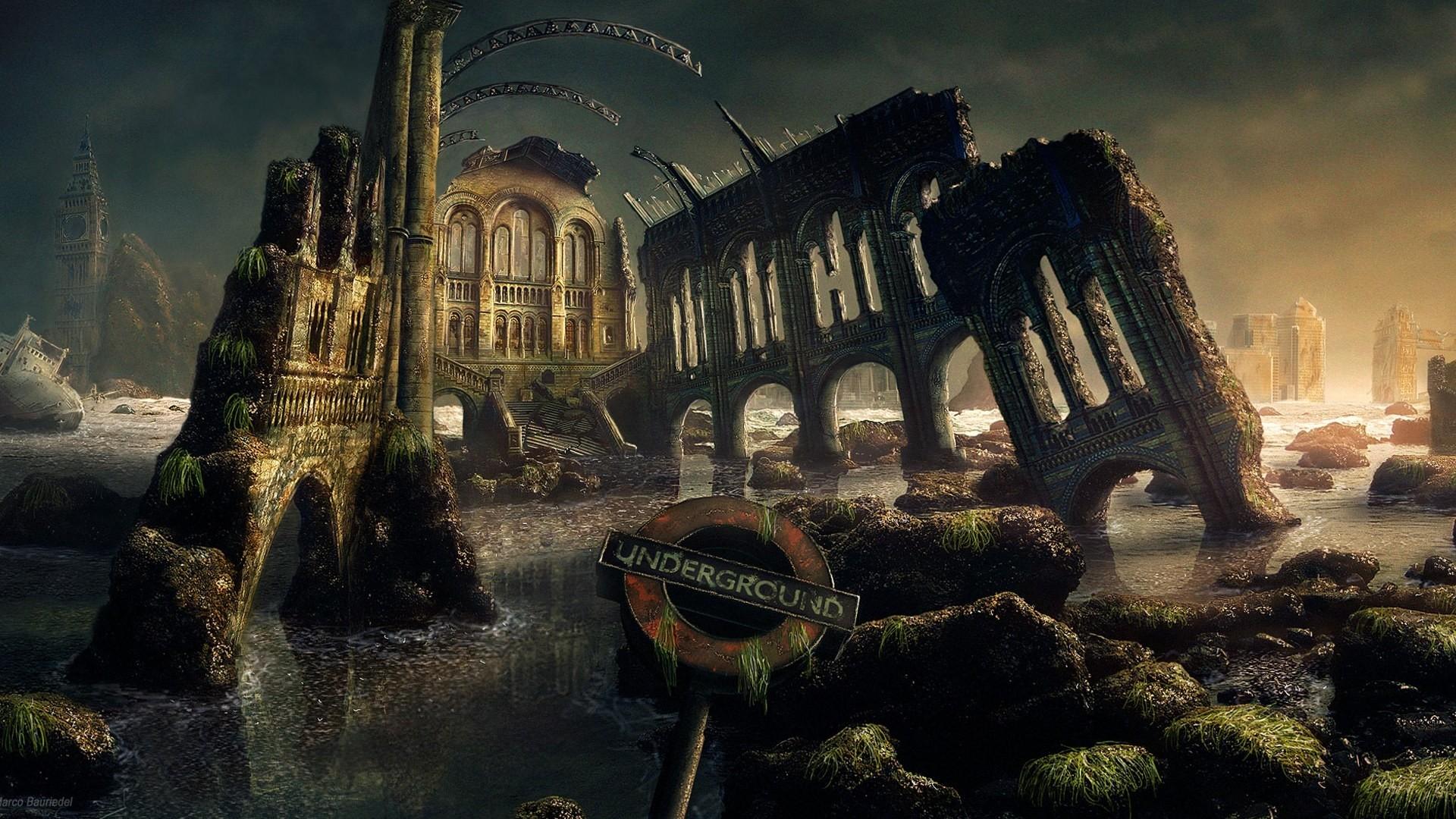 Explore Fantasy Landscape, Landscape Art, and more! Post Apocalyptic  Computer Wallpapers, Desktop Backgrounds …