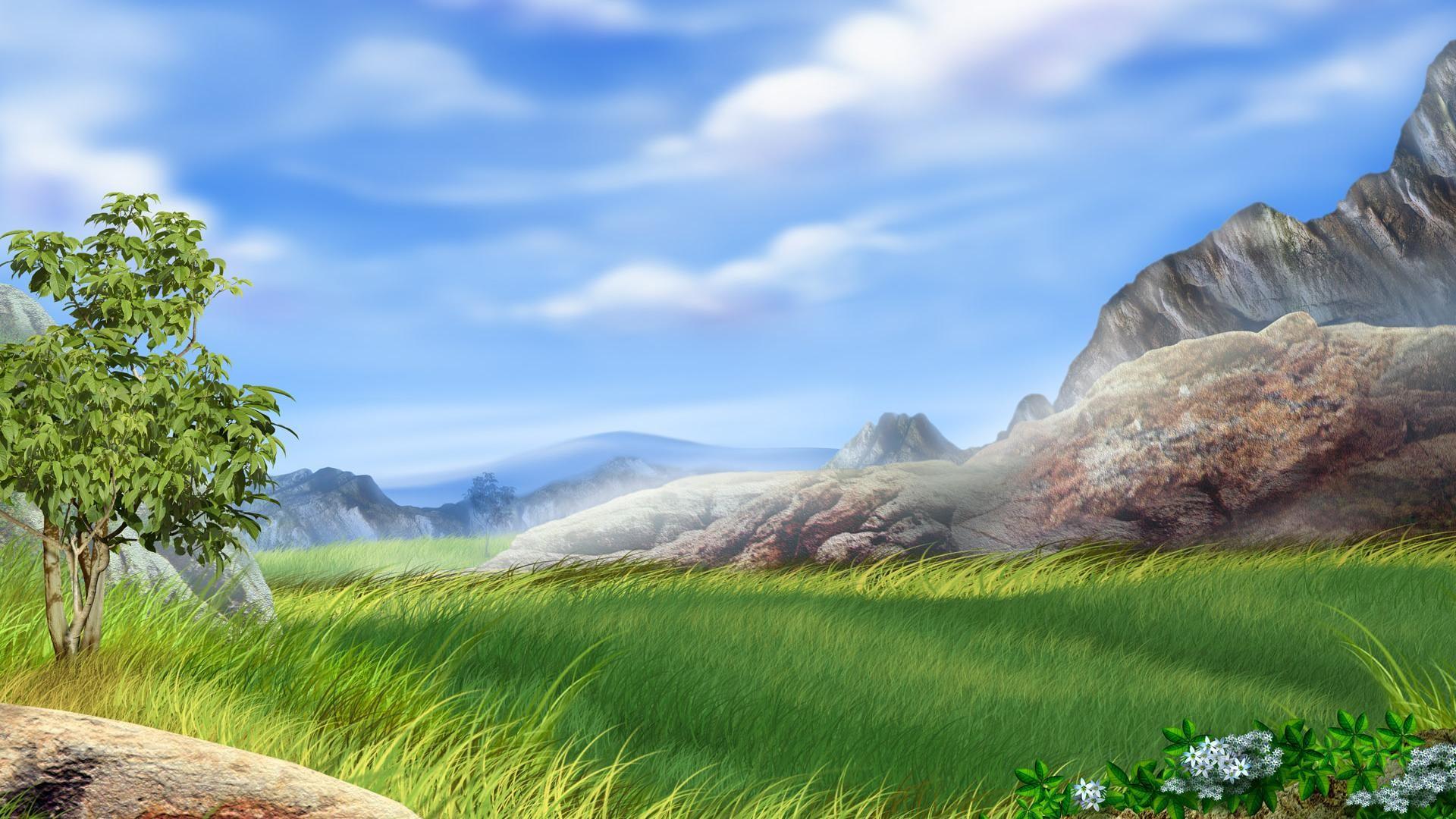 hd Vector field landscape backgrounds wide wallpapers:1280×800,1440×900,1680×1050  – hd