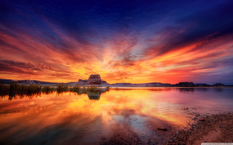 Beautiful Sunset Landscape Background Wallpapers