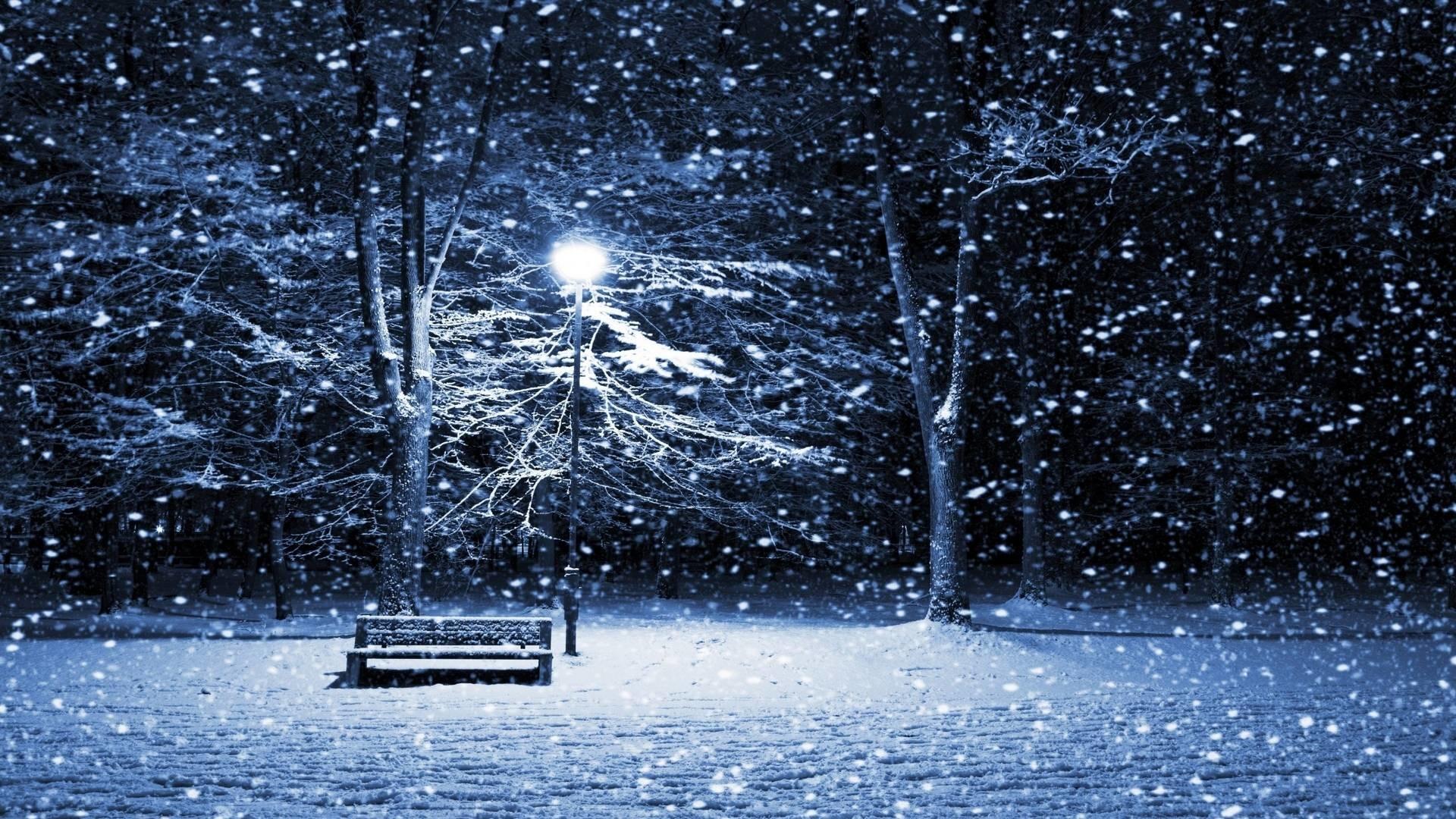 Cold Night Snowfall   Wallpaper JPEG