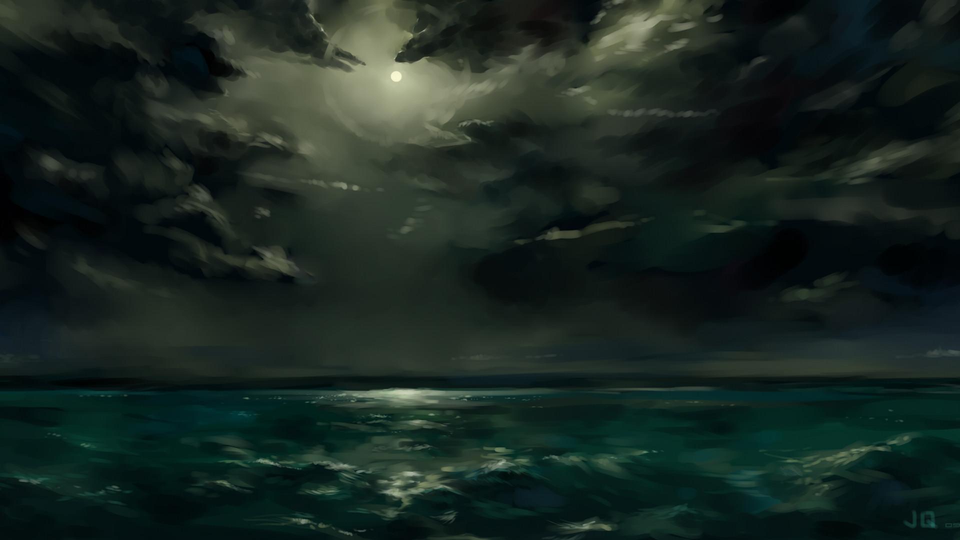 Clouds night storm sea wallpaper     217848   WallpaperUP
