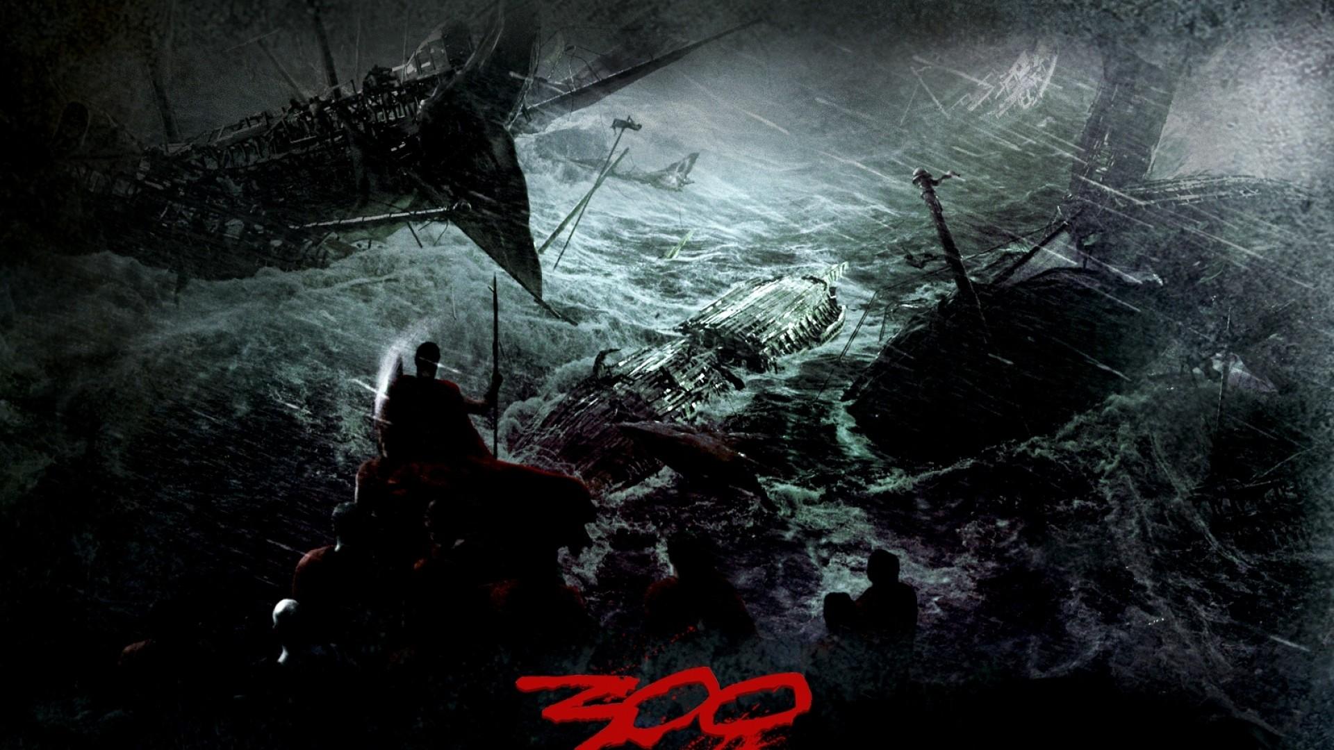 Wallpaper 300, ships, crash, storm