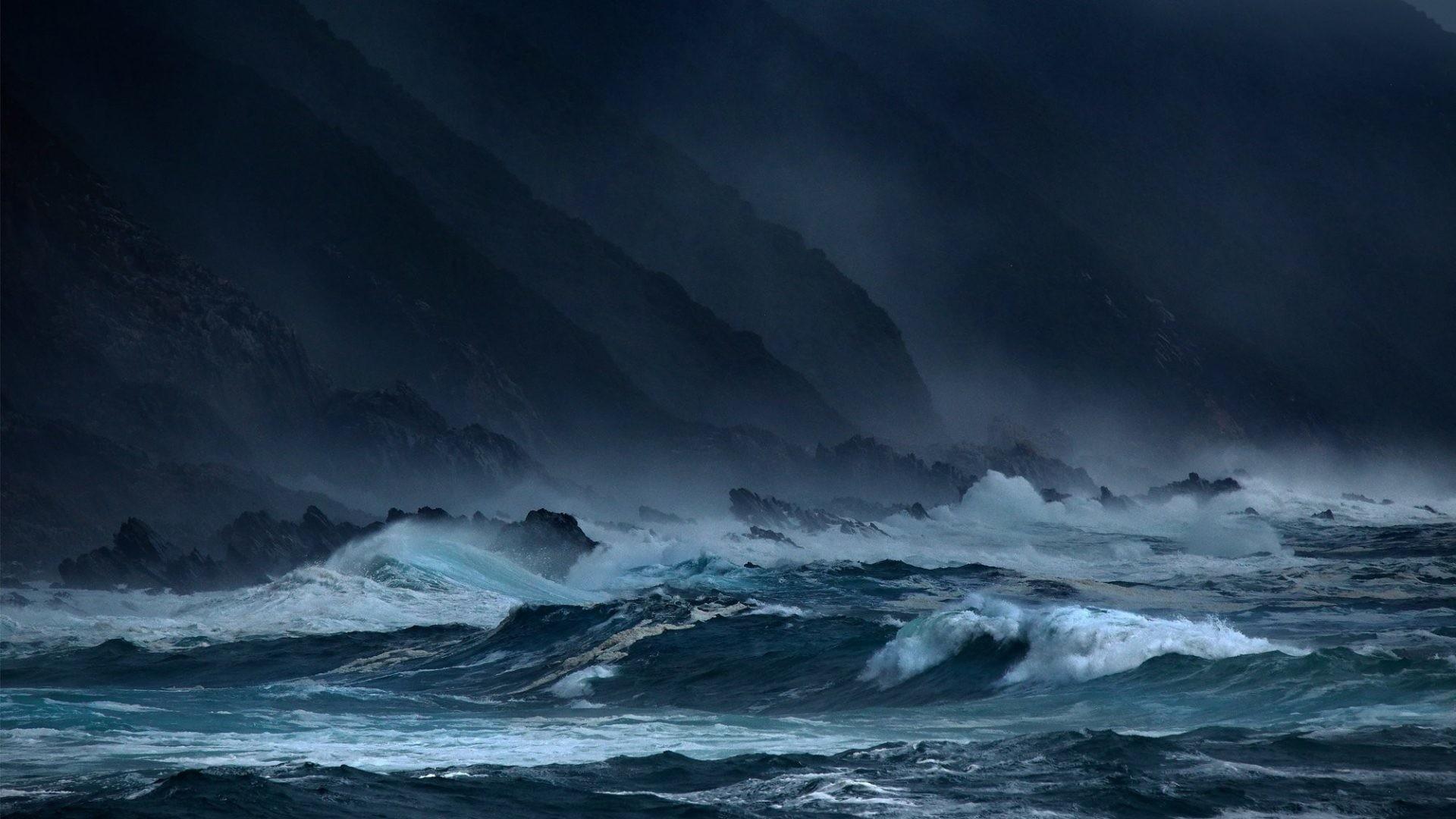 Sky Clouds Sea Rain Waves Ocean Weather Nature Storm Hd Download – 2000×1333