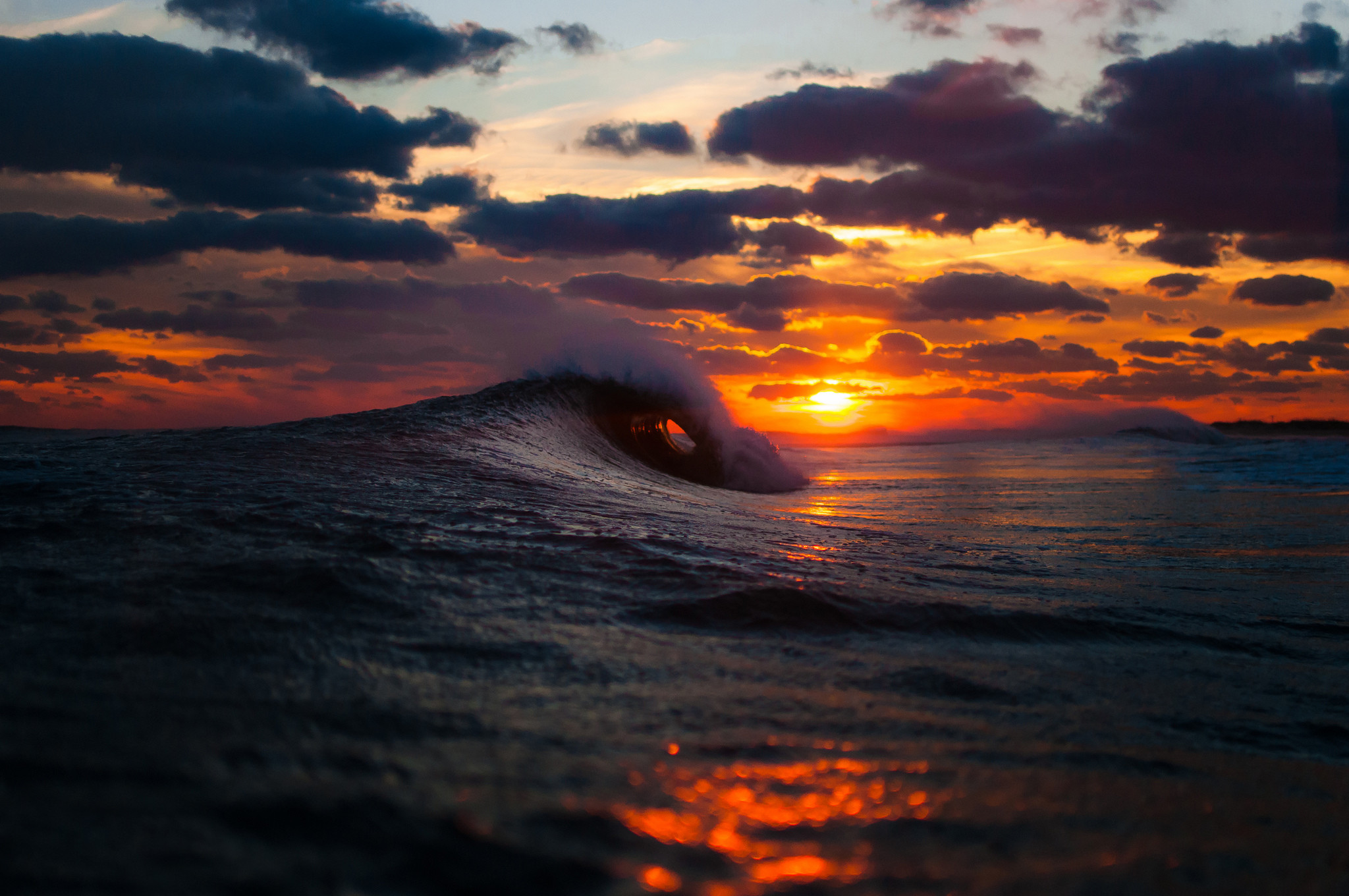 Ocean Waves Sunset Photos