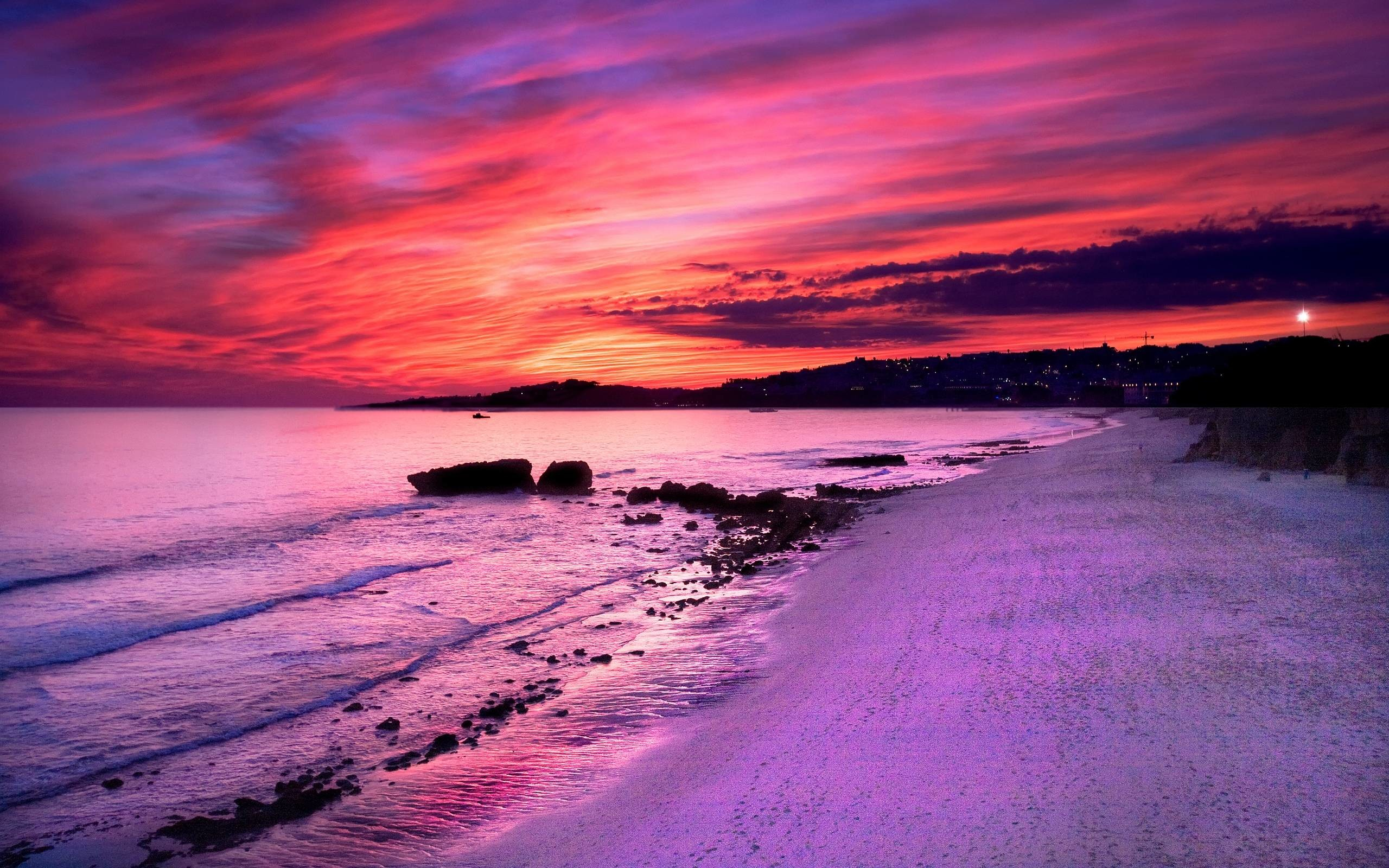Wallpapers For > Purple Sunset Wallpapers