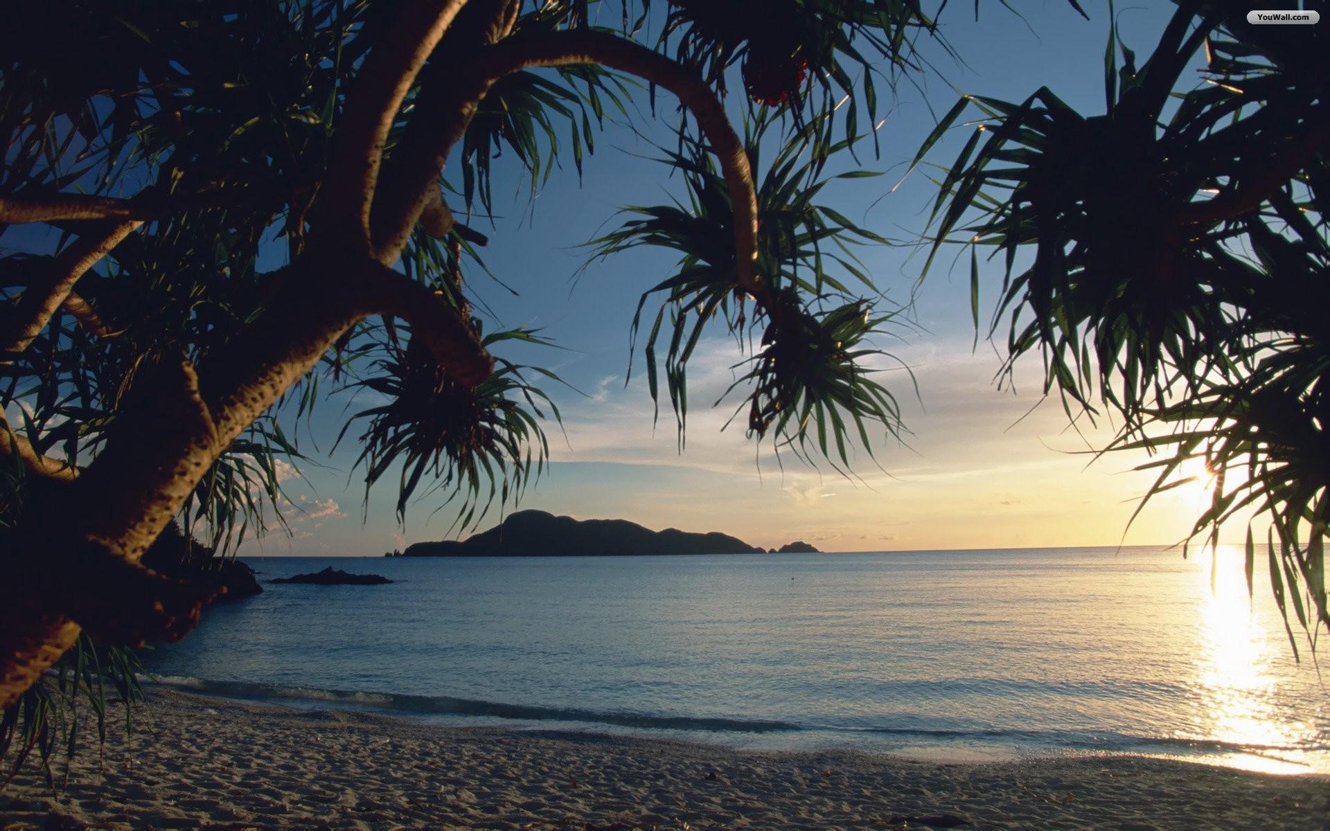 Tropical Sunset HD desktop wallpaper : High Definition 1920×1200 Tropical Sunset  Wallpapers (37
