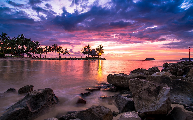 Beach Resort Sunset