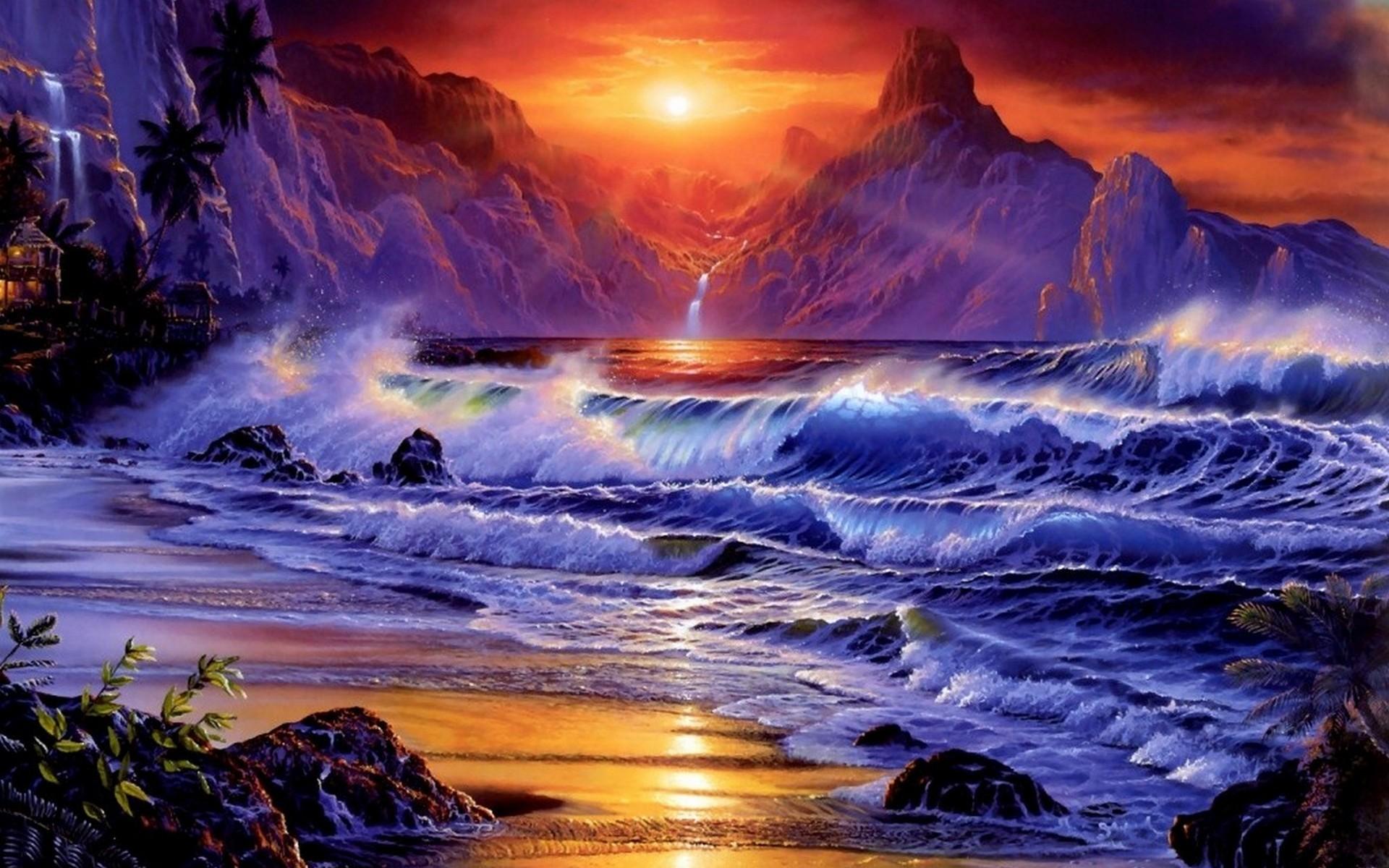 15 Sunsets Ocean Wallpaper :: Ocean Sunset Wallpaper Wallpapers