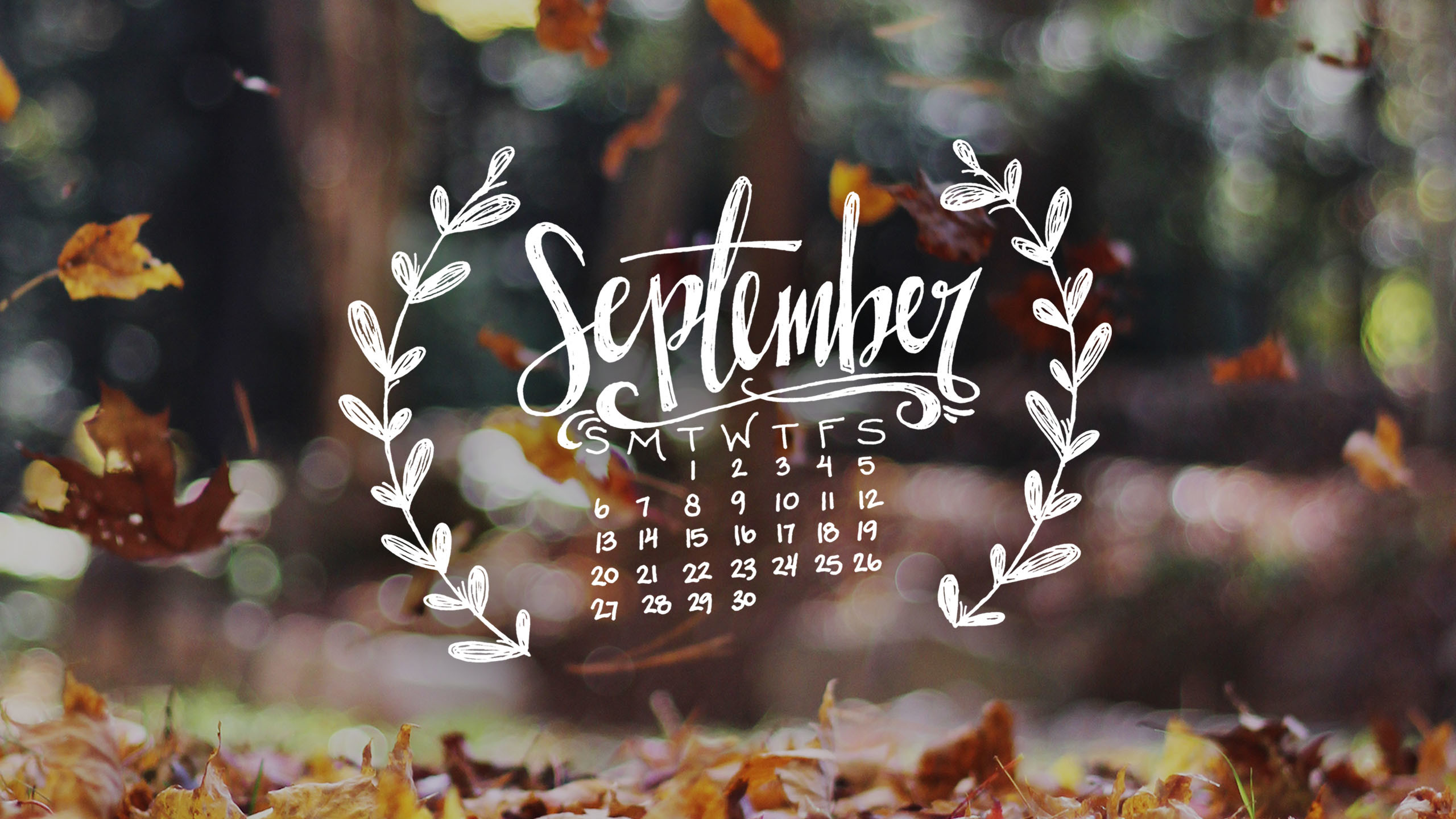 Free just for you – welcome autumn with a new handwritten phone and desktop  wallpaper!