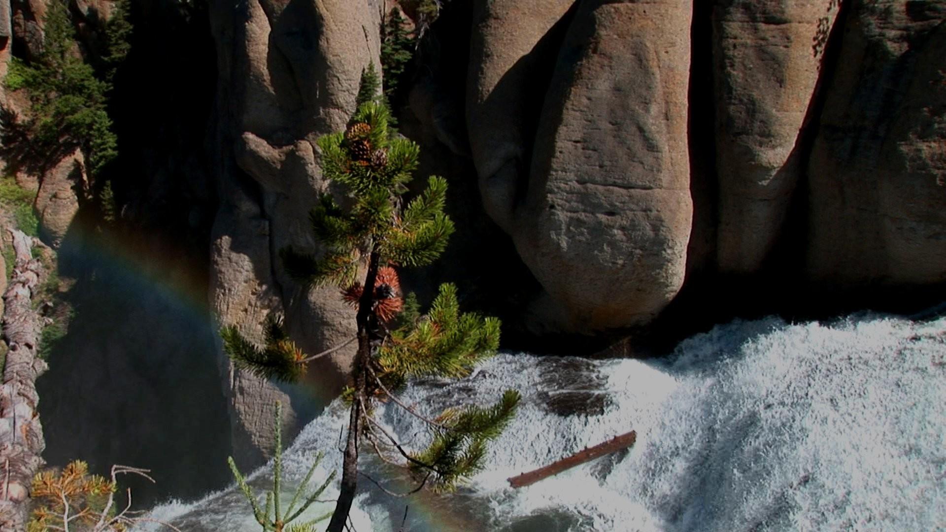 Yellowstone Waterfalls Screen Saver Screensaver Images Terraced Waterfall  Stories