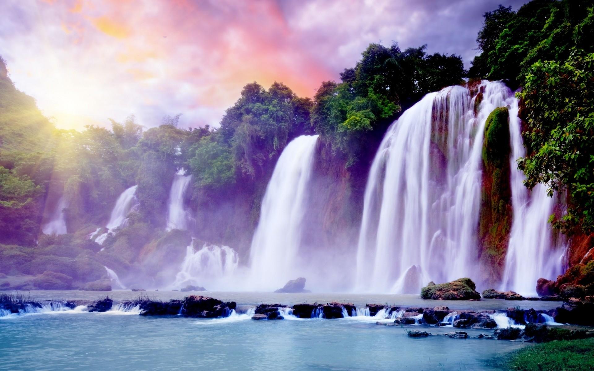 Waterfall HD Wallpapers Backgrounds Wallpaper | HD Wallpapers | Pinterest |  Hd wallpaper, Wallpaper and Wallpaper backgrounds