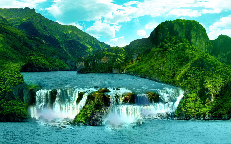 Widescreen Wallpaper: waterfall