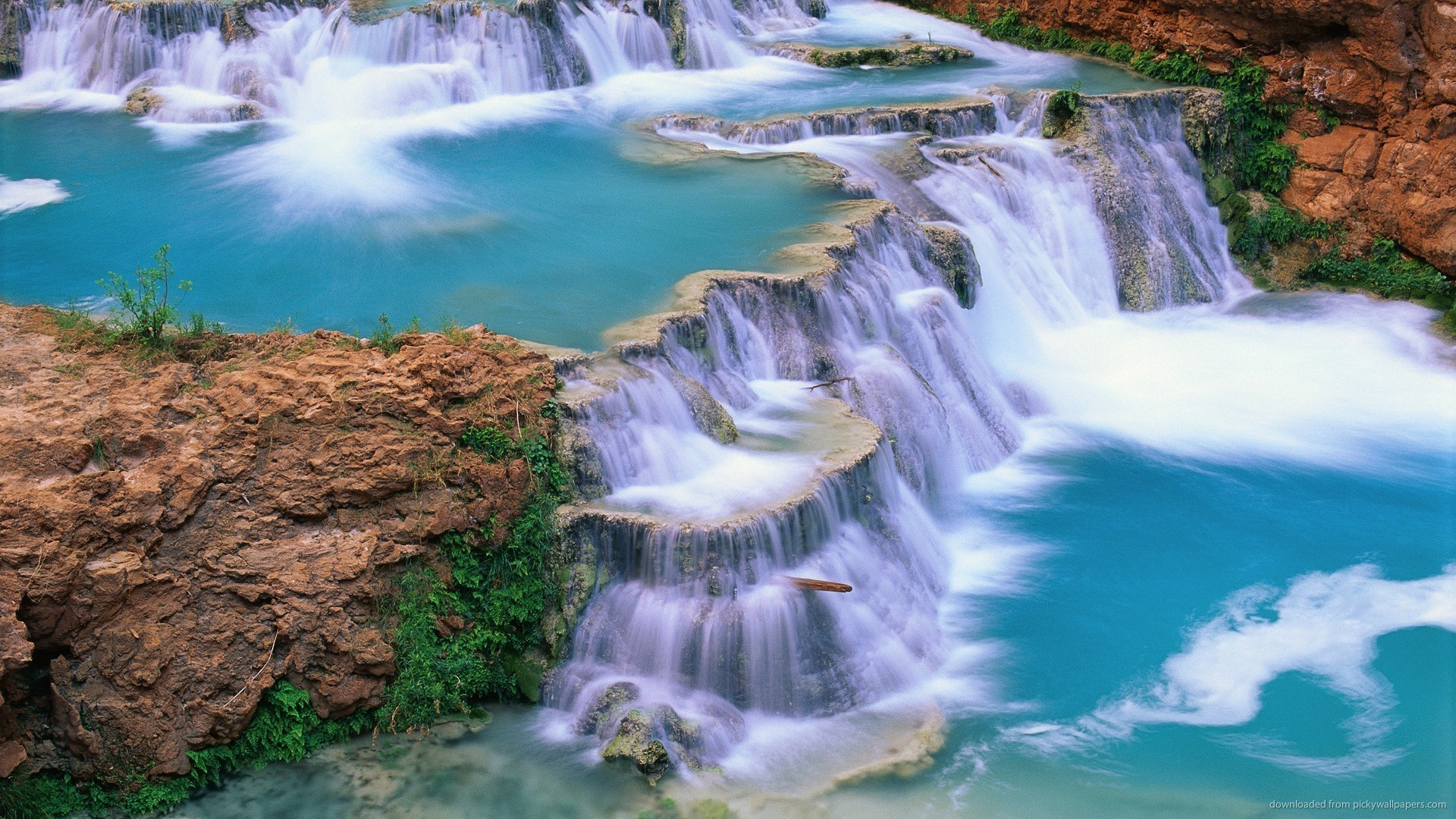 Gorgeous cascade waterfalls picture