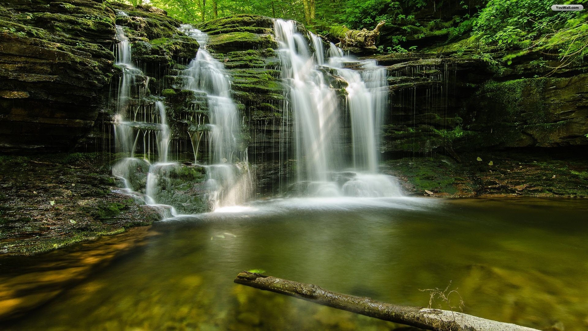 Geen Forest Waterfalls YouWall – Geen Forest Waterfalls Wallpaper –  wallpaper,wallpapers
