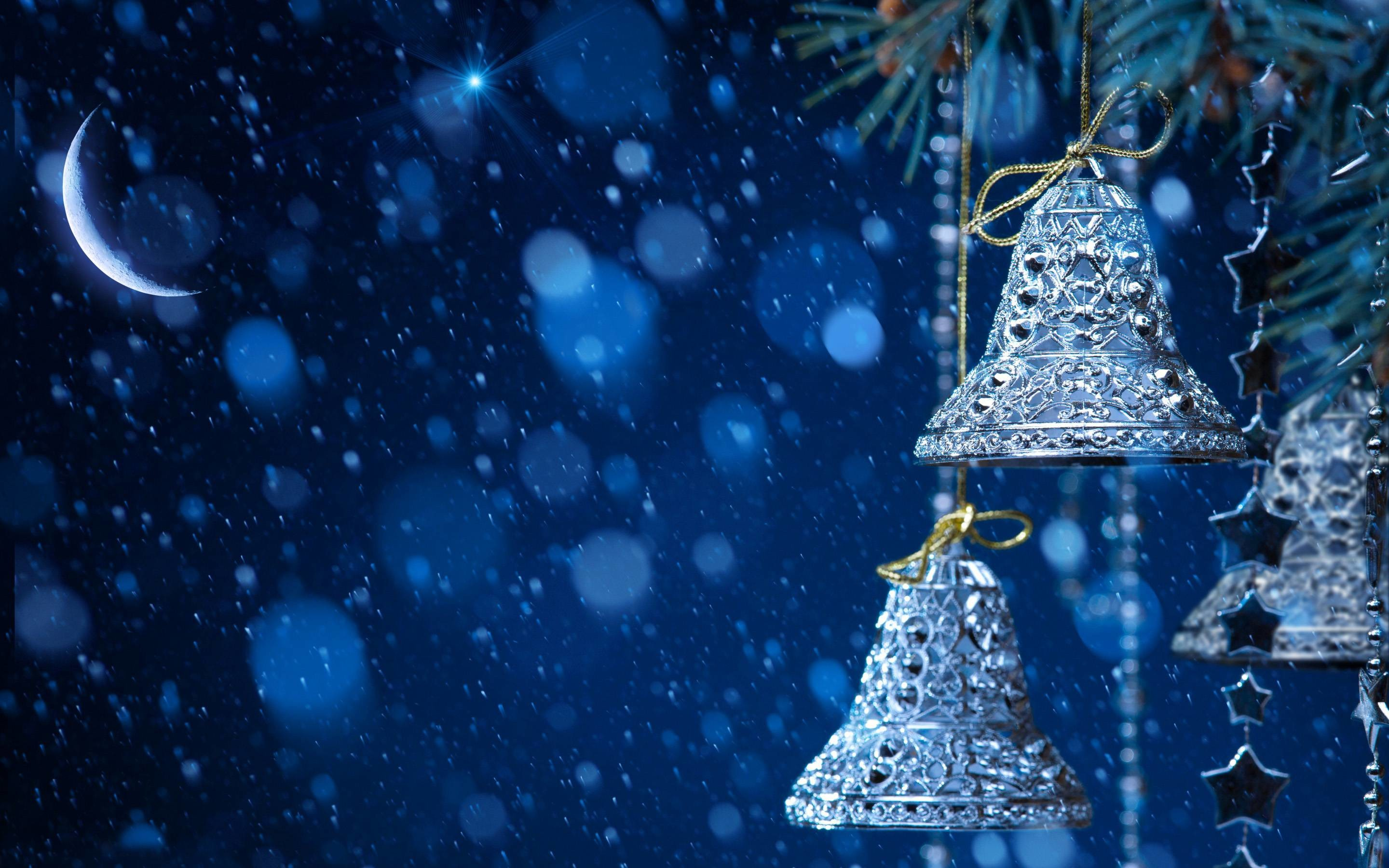 Snowfall in Christmas Eve HD Wallpaper   HD Wallpapers Free Download