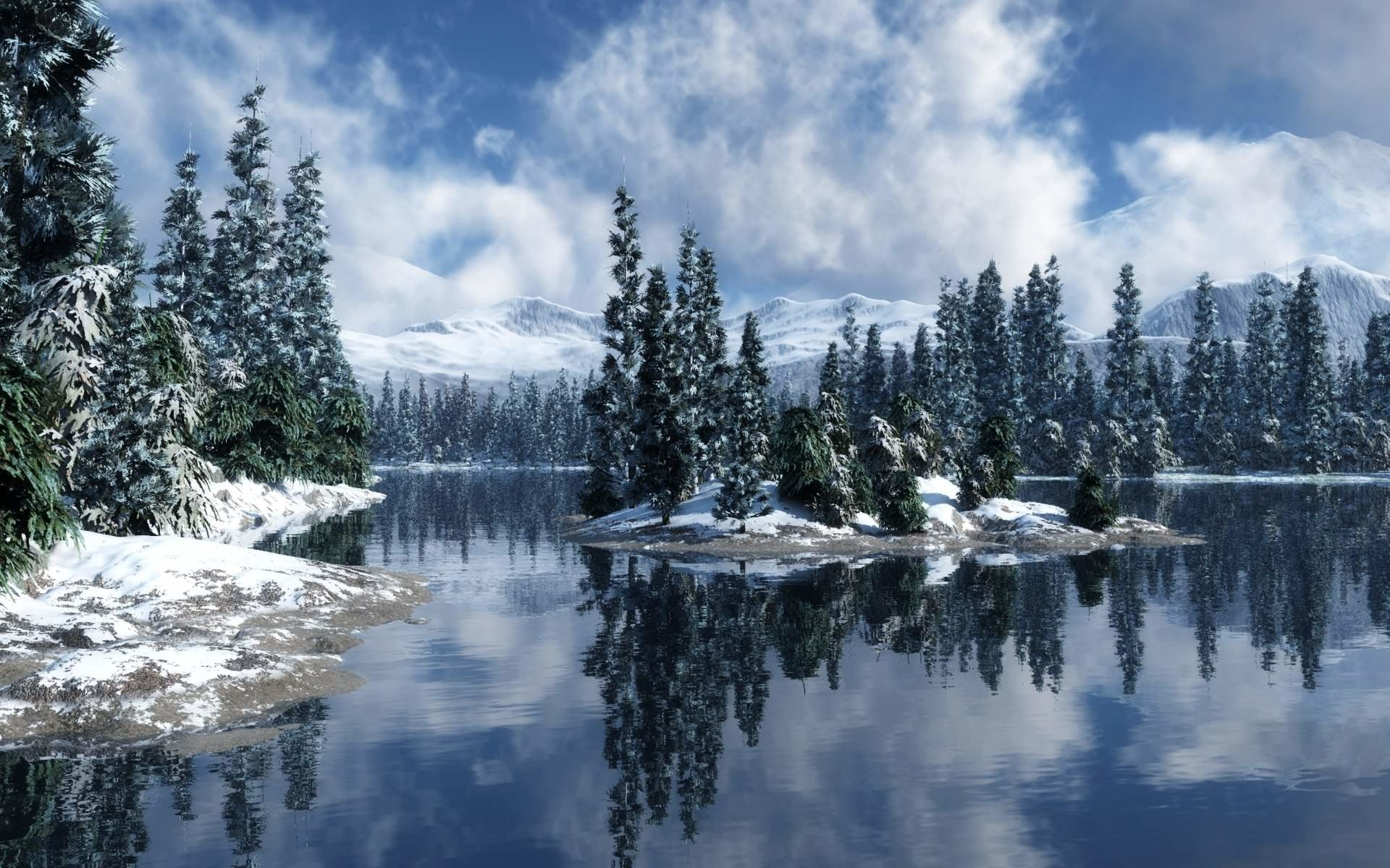 Snowy Screensavers Forest Christmas wallpapers HD free – 201957