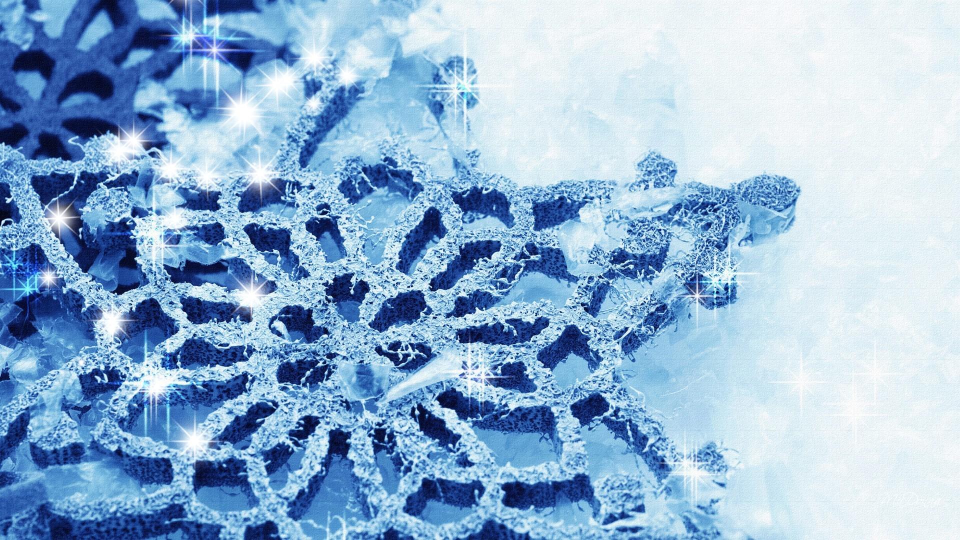 Blue Persona Shine Firefox Snowflake Cold Snow Crystal Stars Winter  Diamonds Desktop Screensavers – 1920×1080