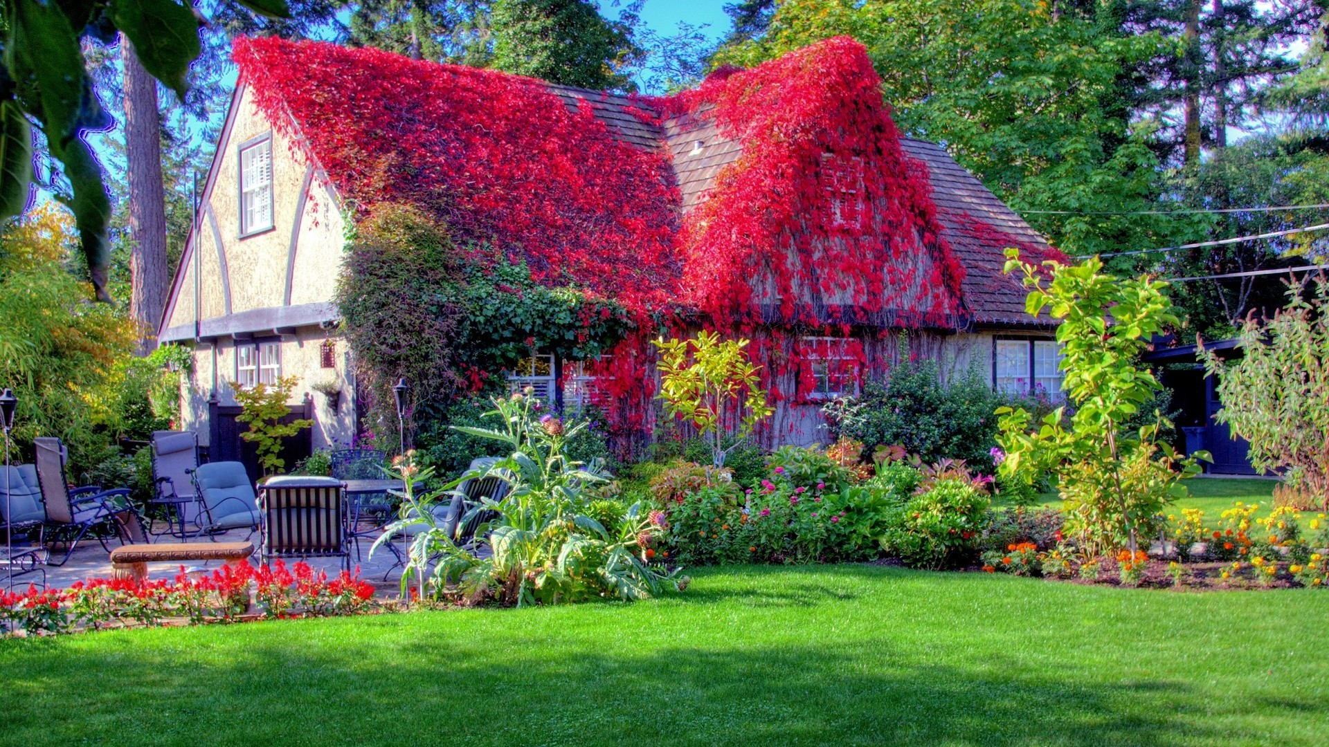 Beautiful Spring Scenes House Desktop Wallpapers And Images