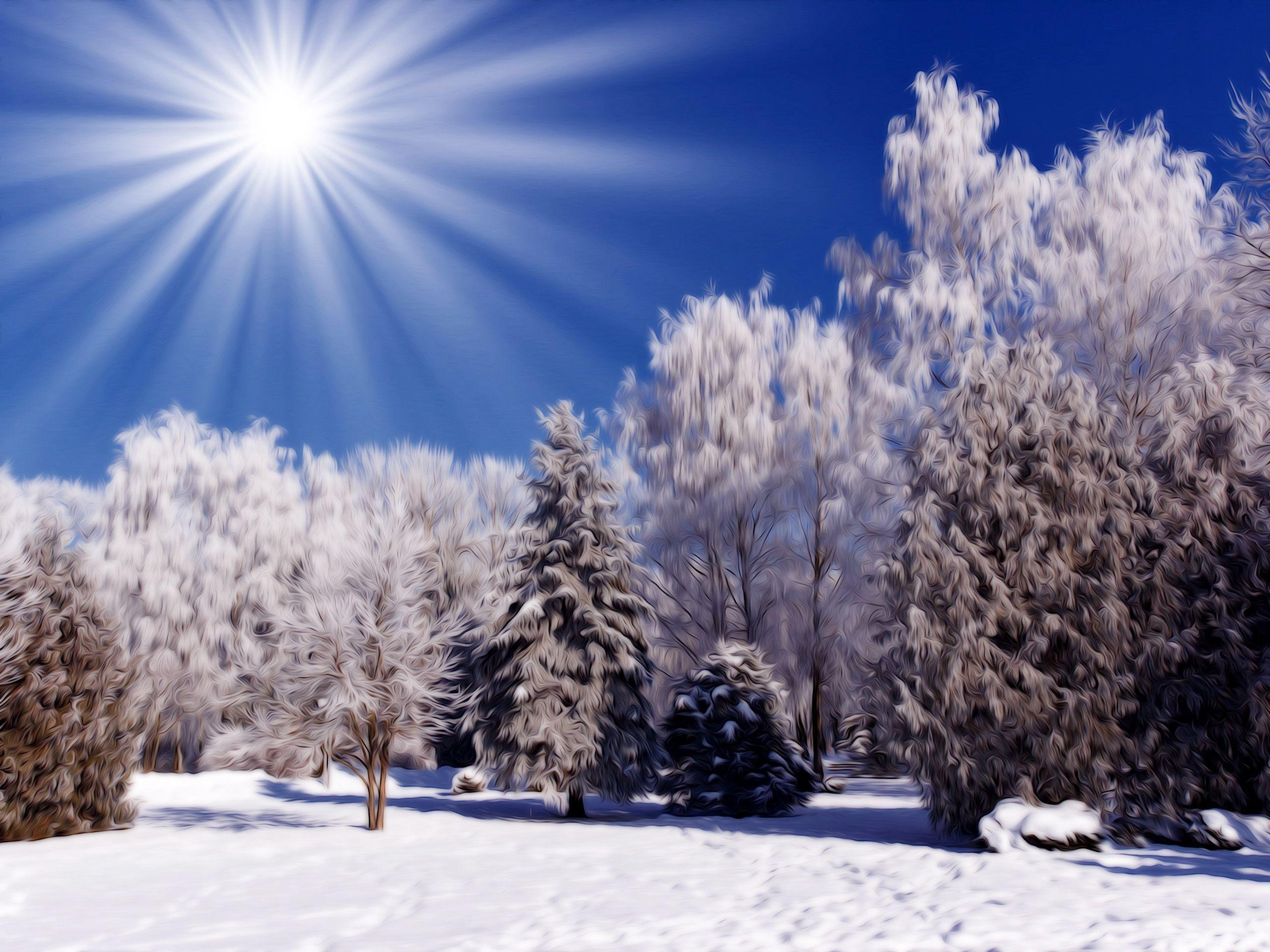 Winter Nature Scenes Wallpapers (69 Wallpapers)