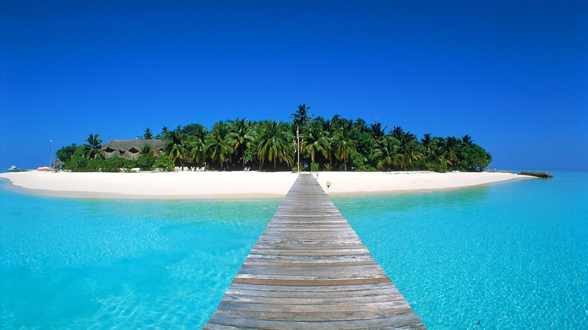 Maldives Island Beach Wallpaper Background Wid #2355 Wallpaper .