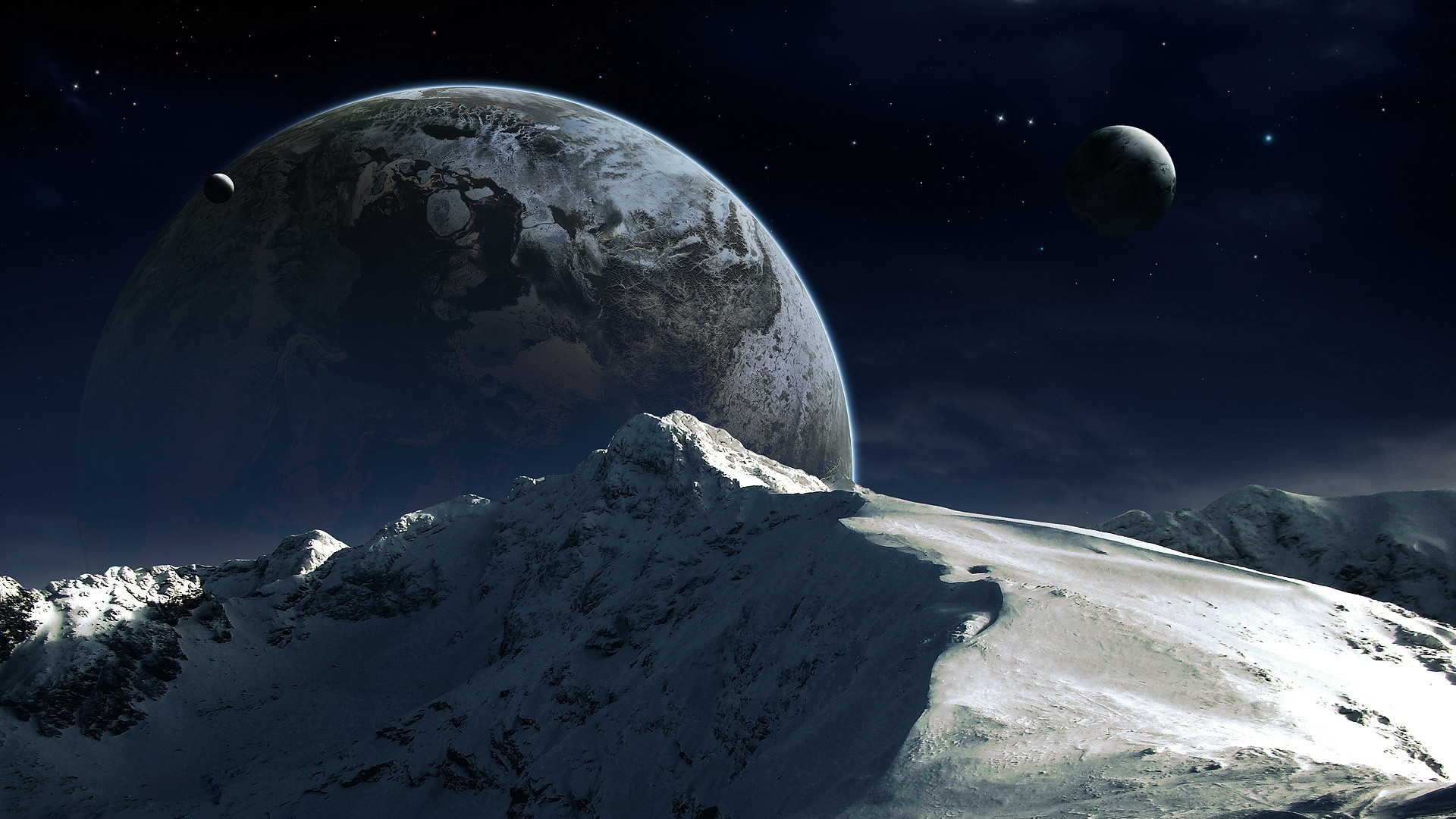 sci fi landscape Wallpaper Backgrounds