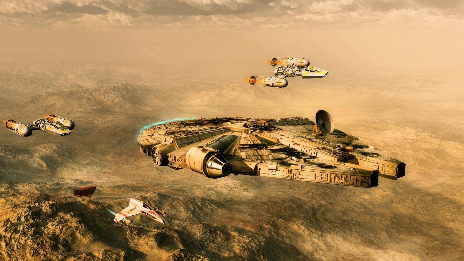 Star Wars – Millenium Falcon HD Wallpaper » FullHDWpp – Full HD .